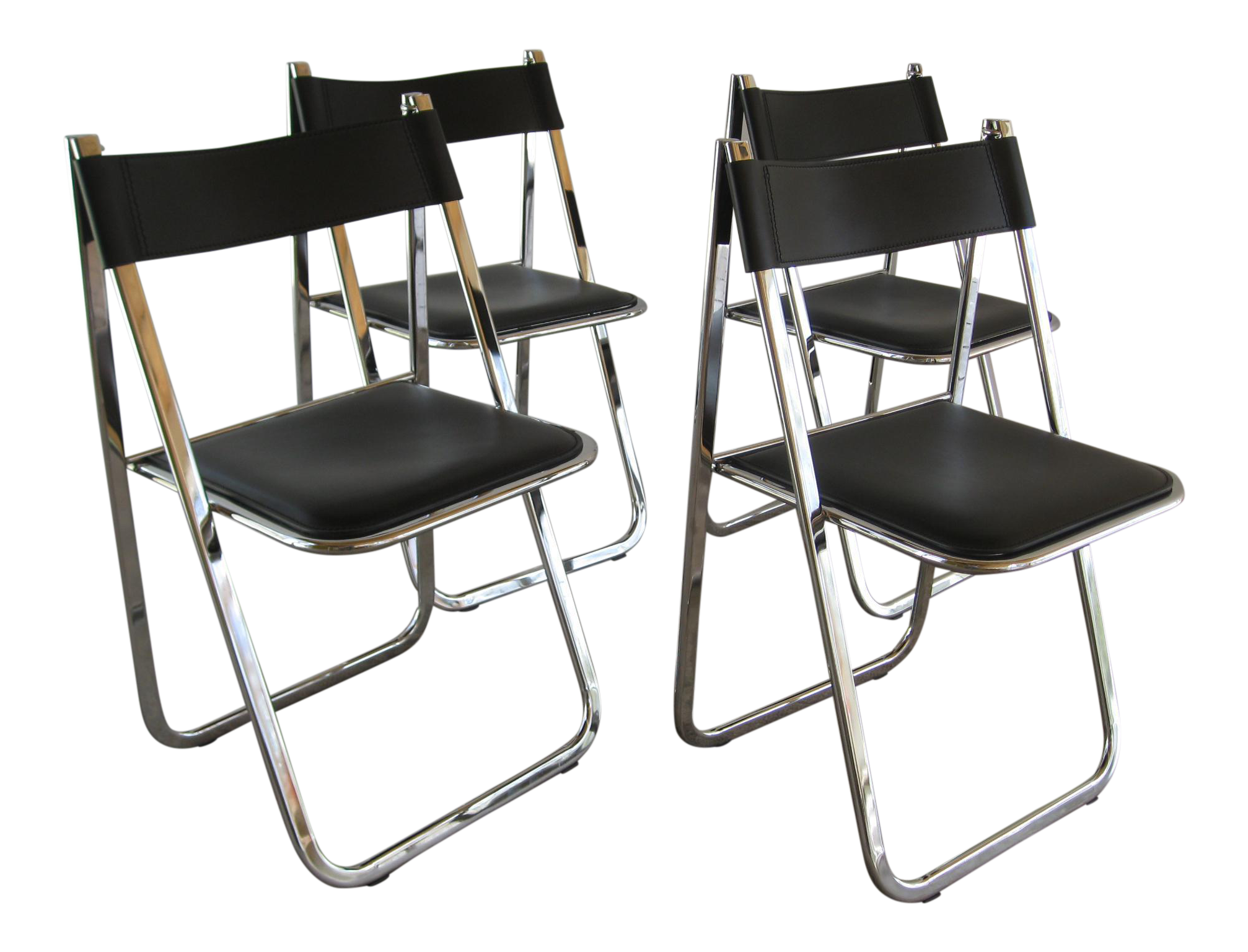 Arrben Tamara Italian Folding Chairs Set of 4