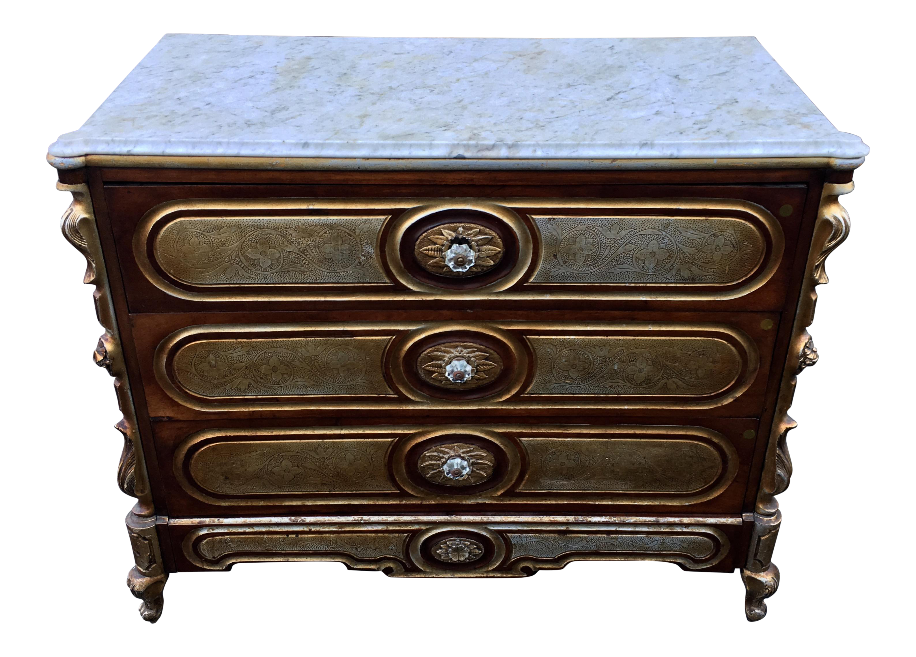 Unusual antique baroque style chest of drawers commode chairish - Commode style baroque ...