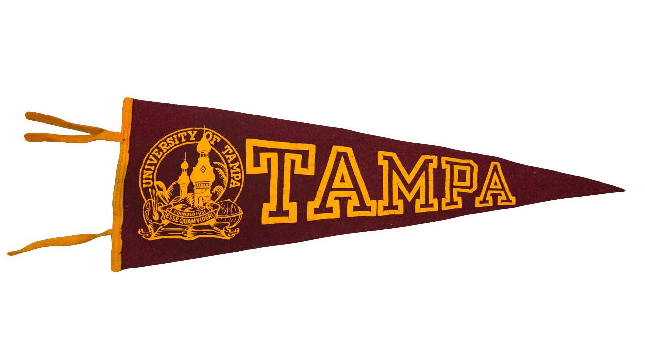 University Of Tampa Felt Flag Chairish