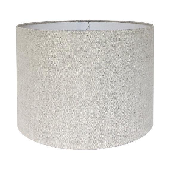 Natural Linen Drum Lamp Shade Chairish
