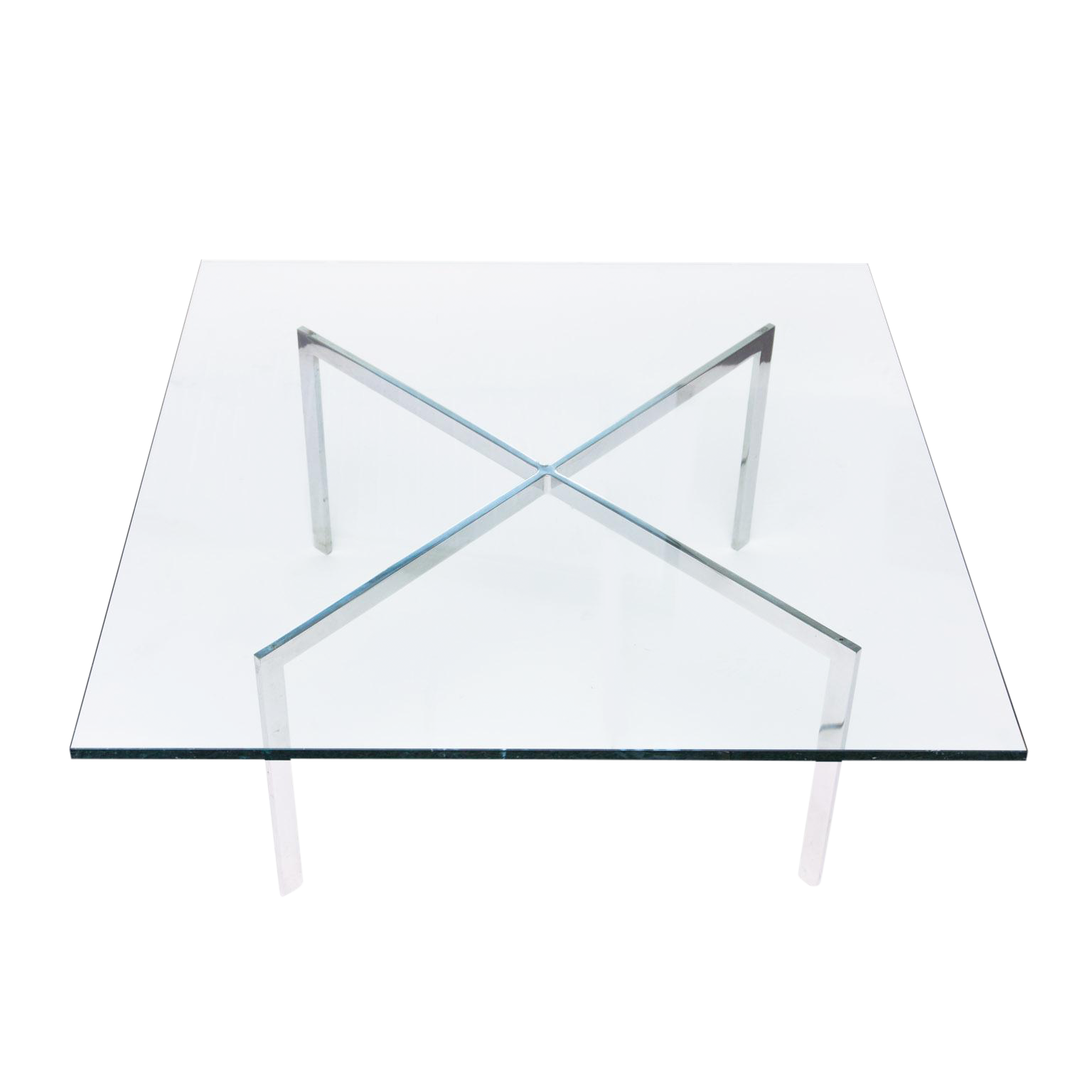 Distinguished Mies Van Der Rohe for Knoll Barcelona Table Base