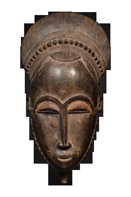 African Tribal Portrait Mask Baule Tribe Chairish