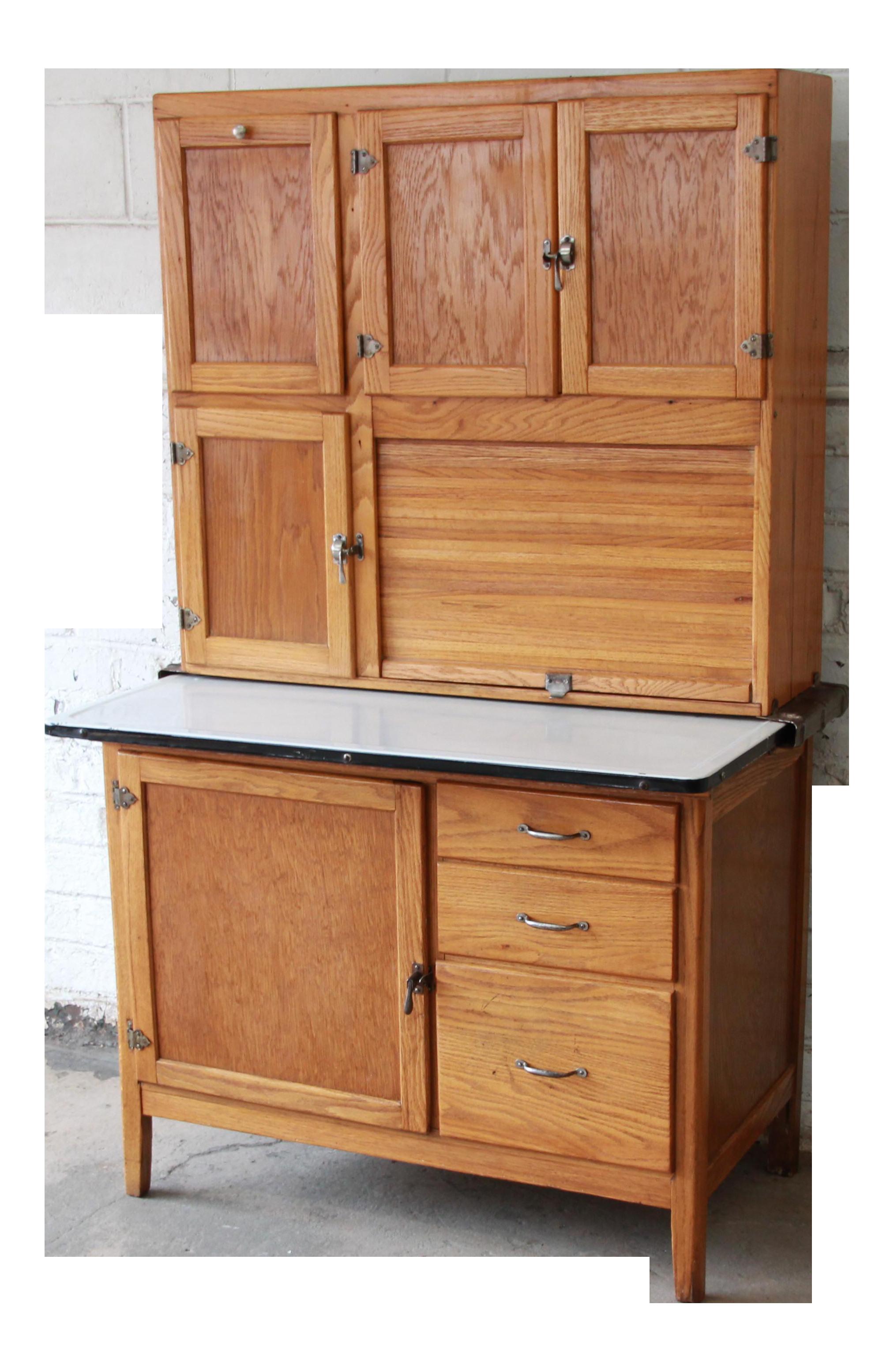 Antique Oak Hoosier Cabinet Chairish