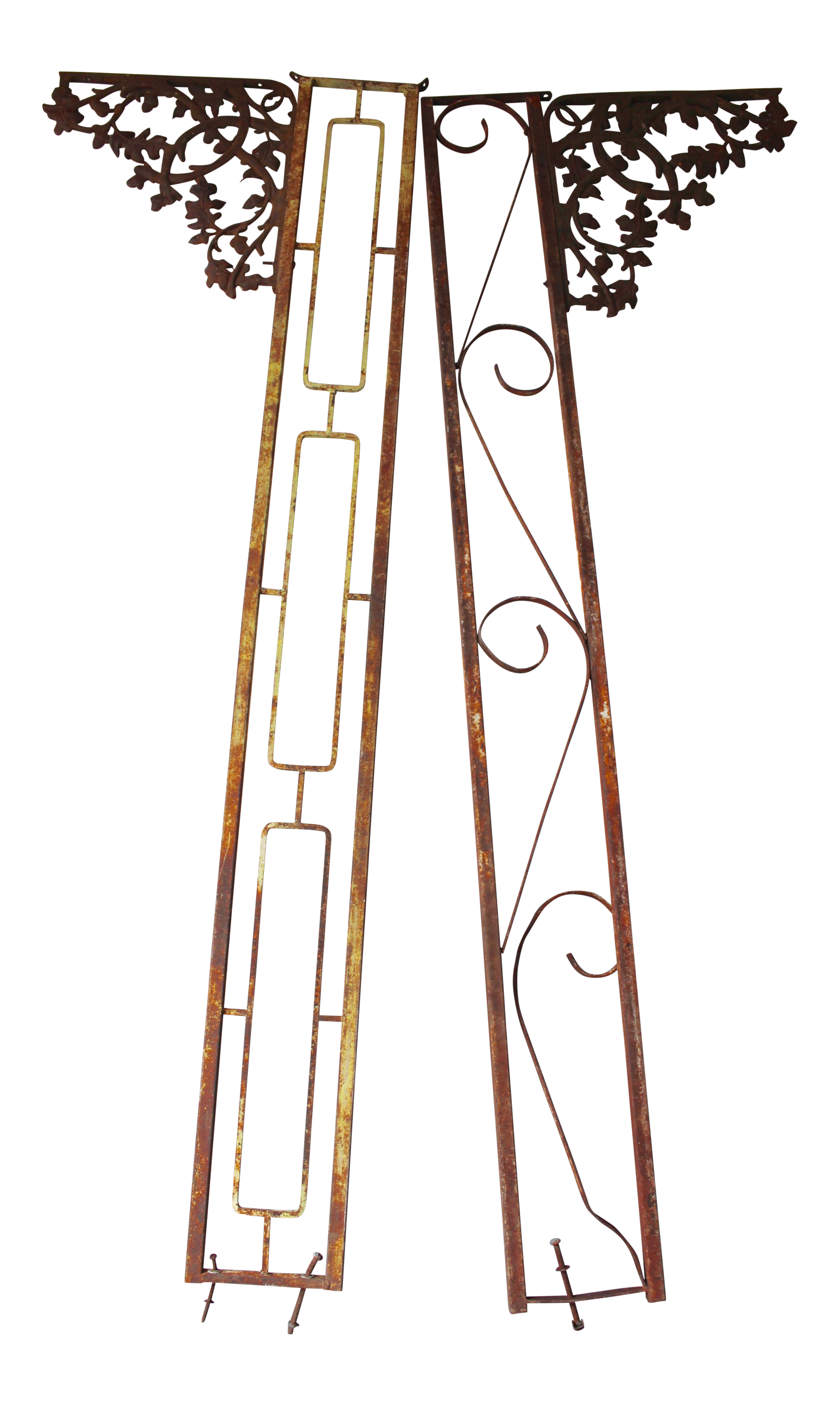 Vintage Wrought Iron Porch Posts A Pair Chairish