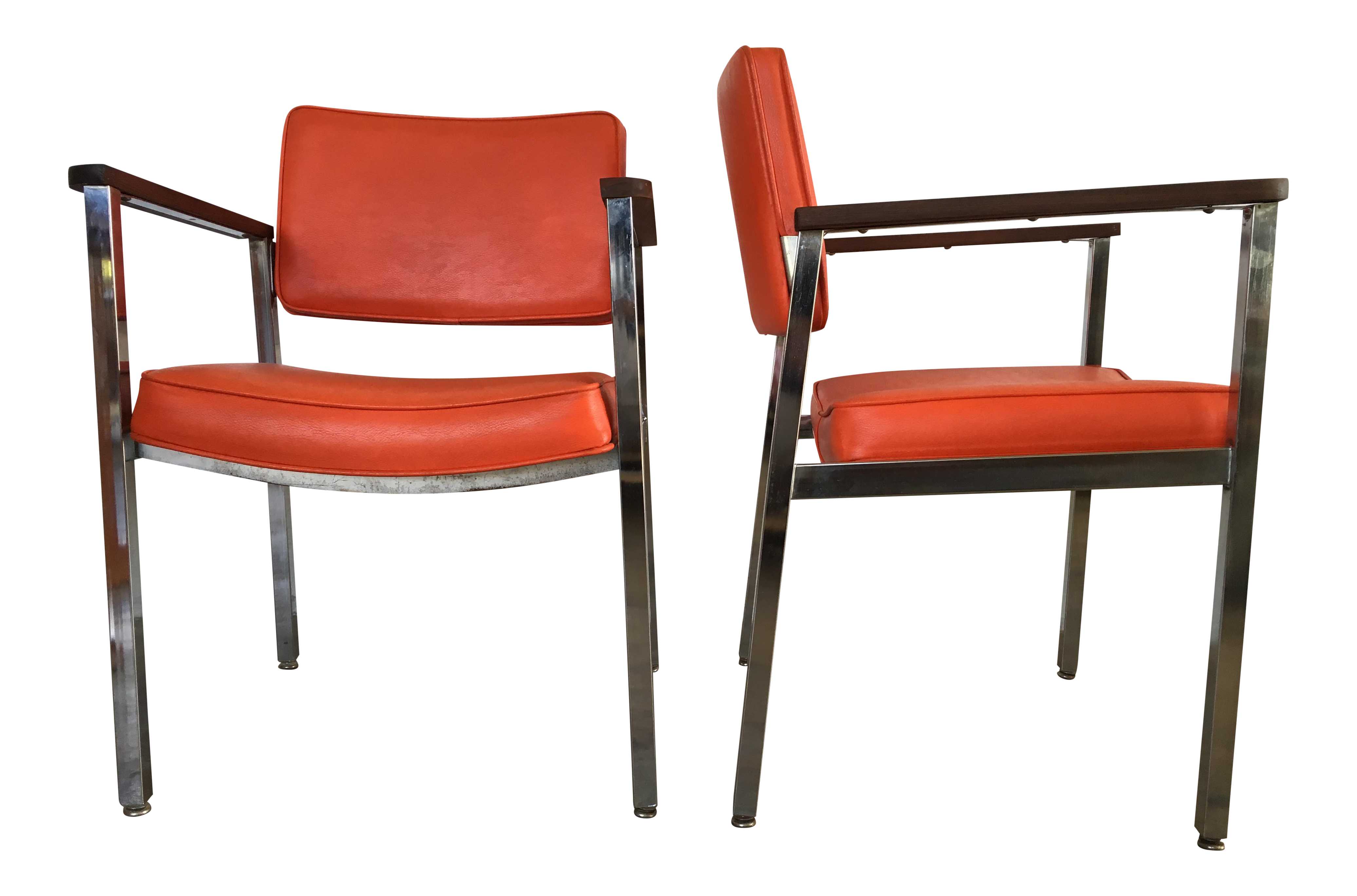 1960s Vintage Haskell Mid Century Modern fice Chairs A Pair