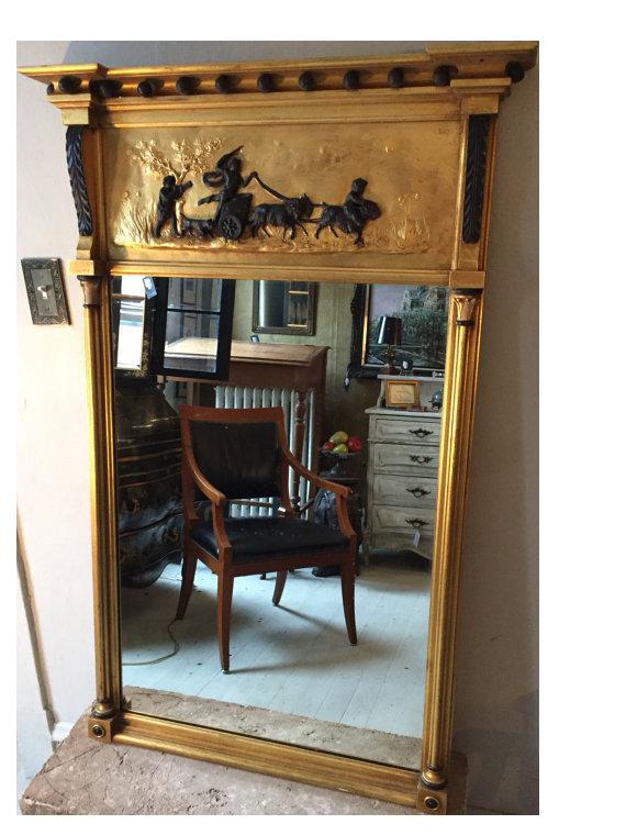 Vintage Gold Trumeau Mirror Chairish