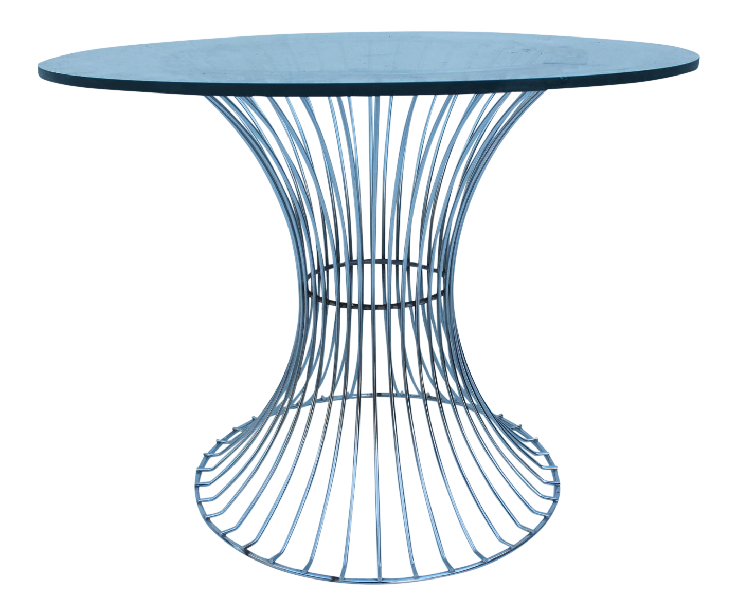 Warren Platner for Knoll Wire Base amp Glass Side Table  : cac69e67 414f 4b03 8e74 bf87540479a2 from www.chairish.com size 1433 x 1199 png 931kB