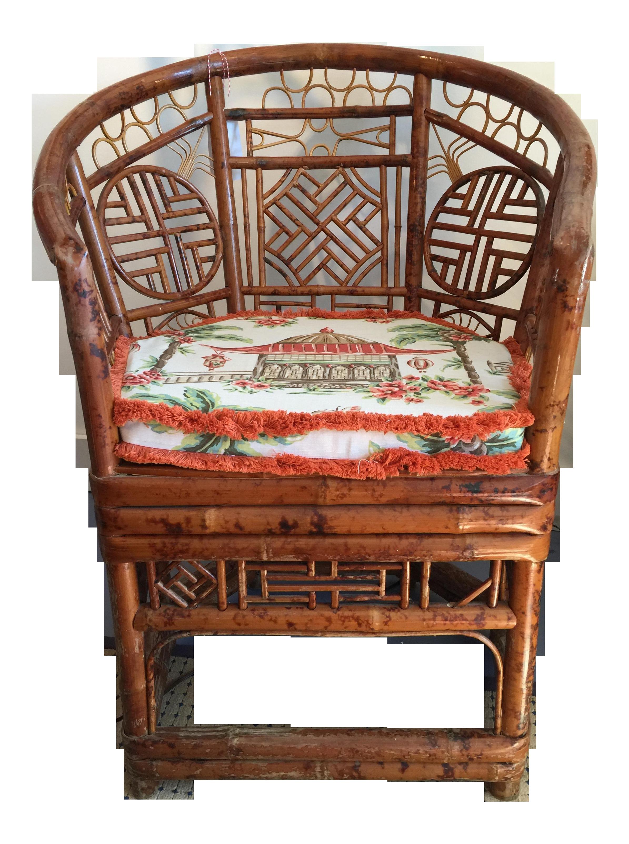 Brighton Style Tortoise Bamboo Barrel Chair