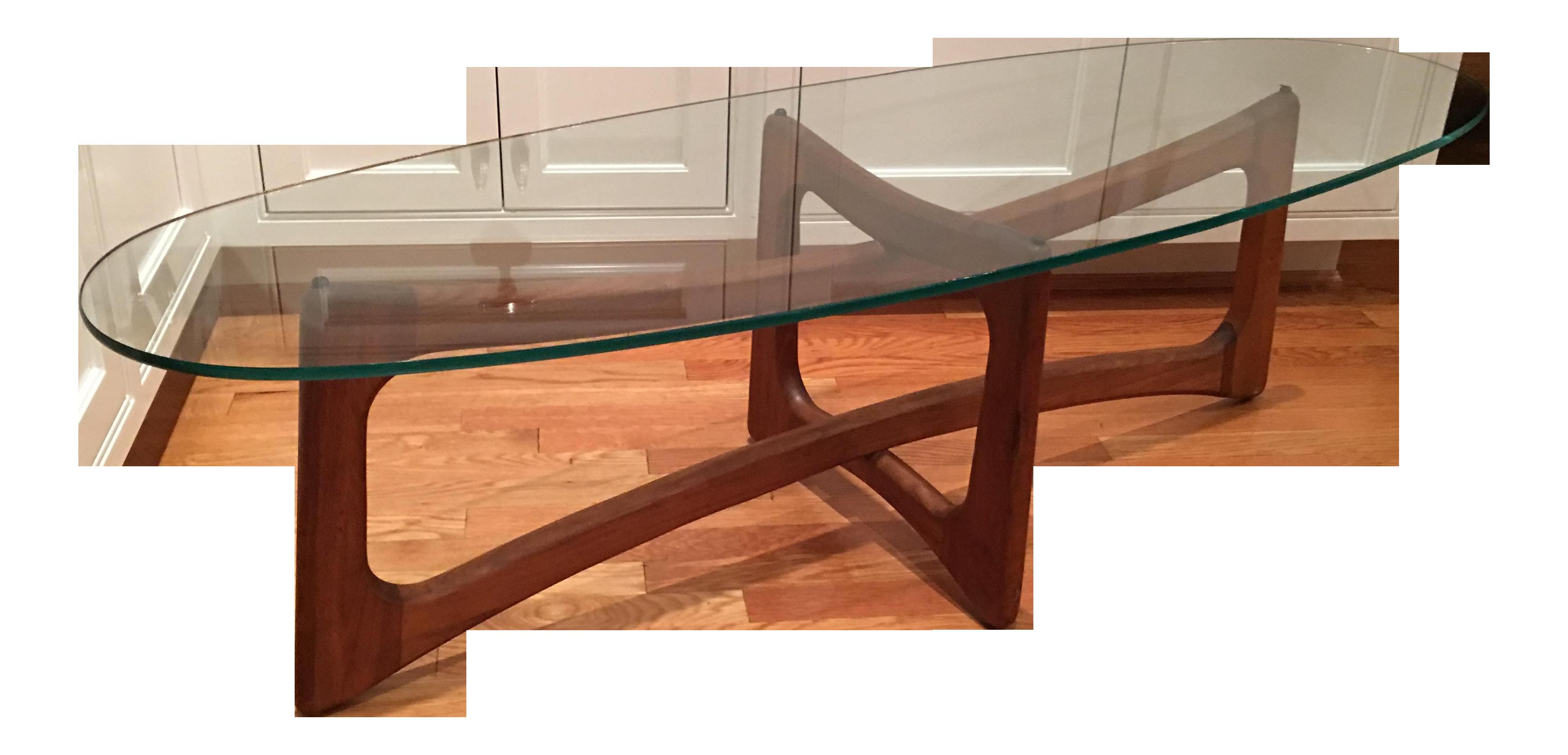 adrian pearsall teak ribbon table chairish