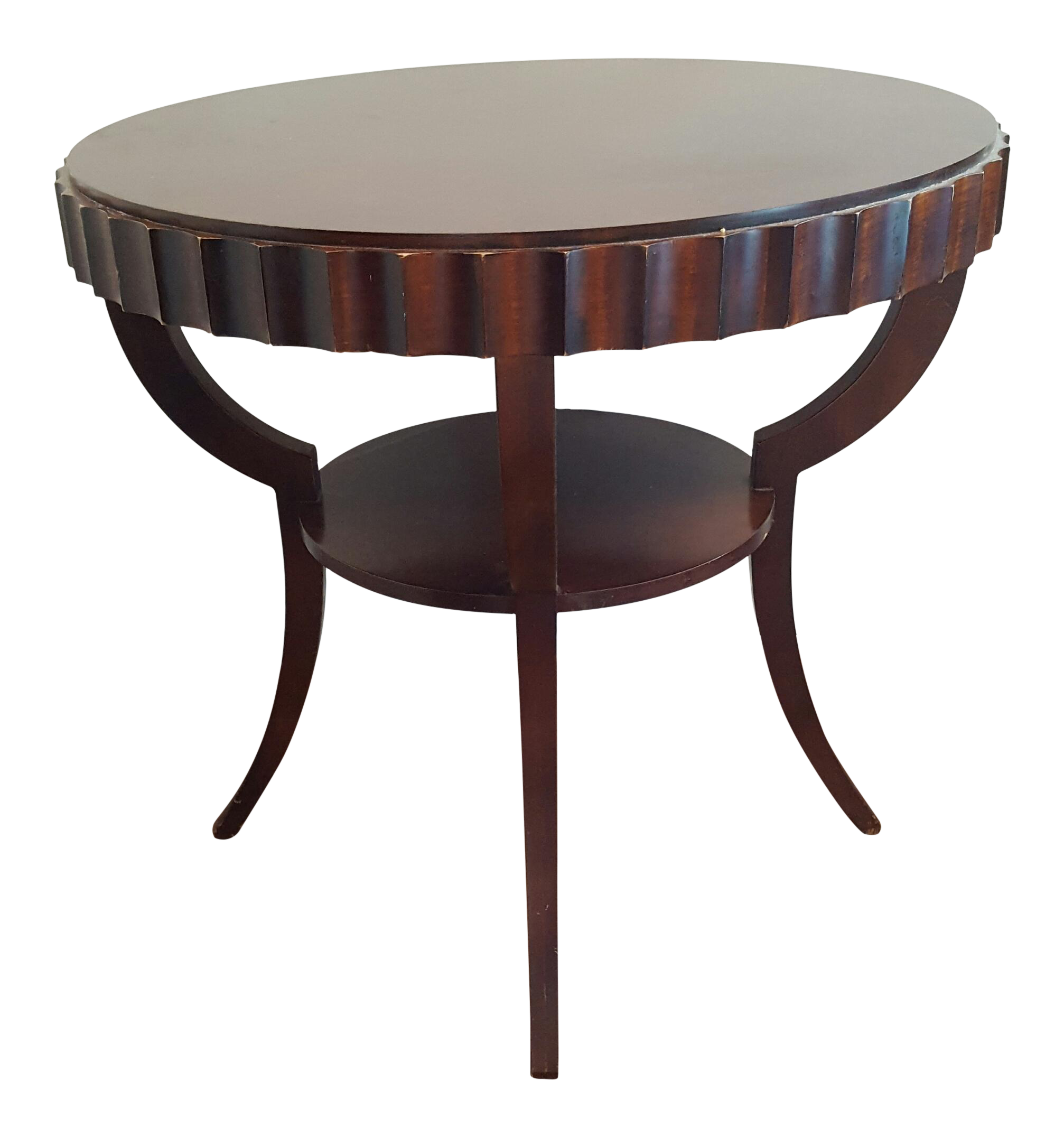 Barbara barry baker fluted mahogany occasional table chairish Barbara barry coffee table