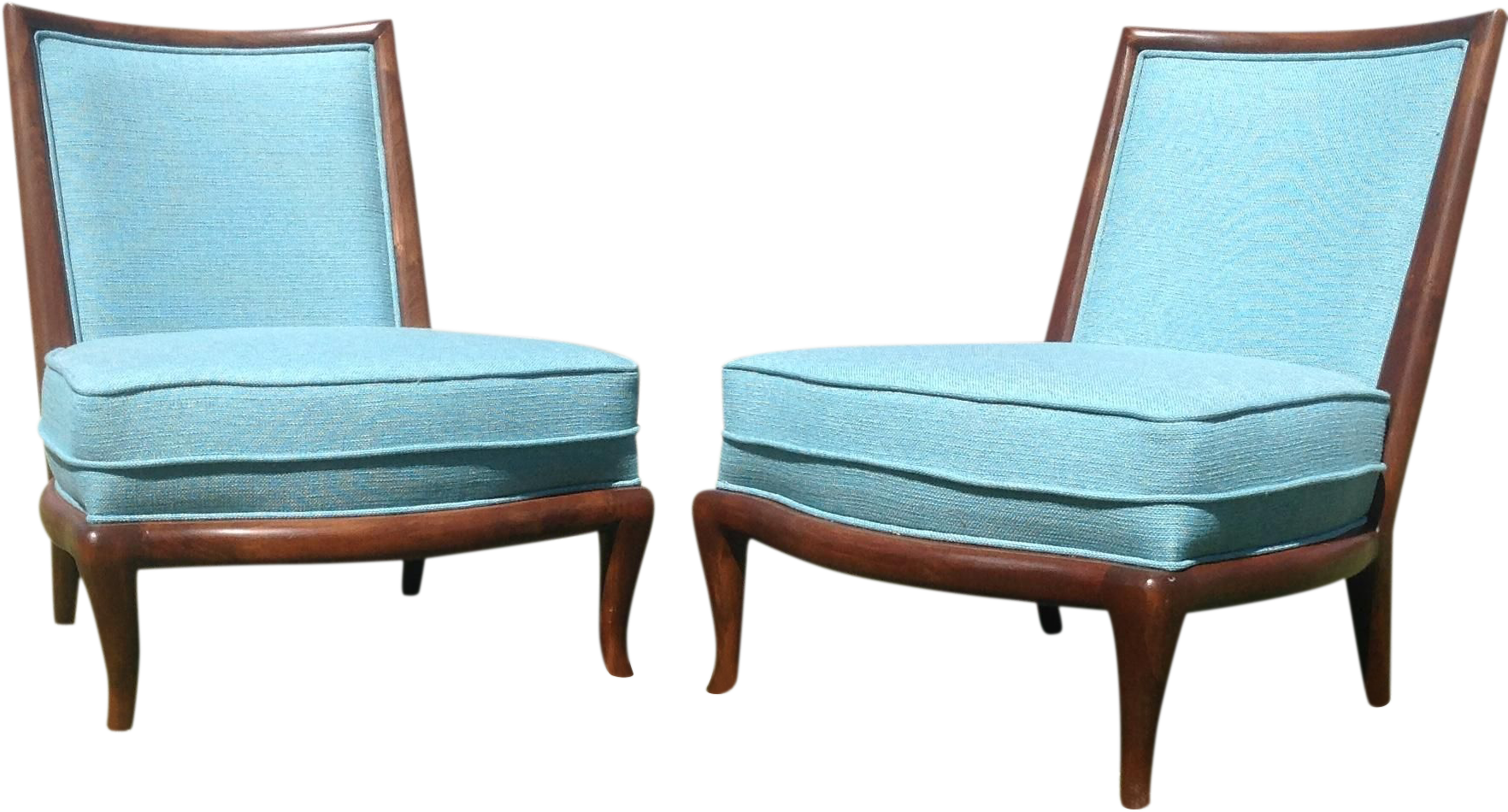 Mid Century Style Slipper Lounge Chairs A Pair Chairish