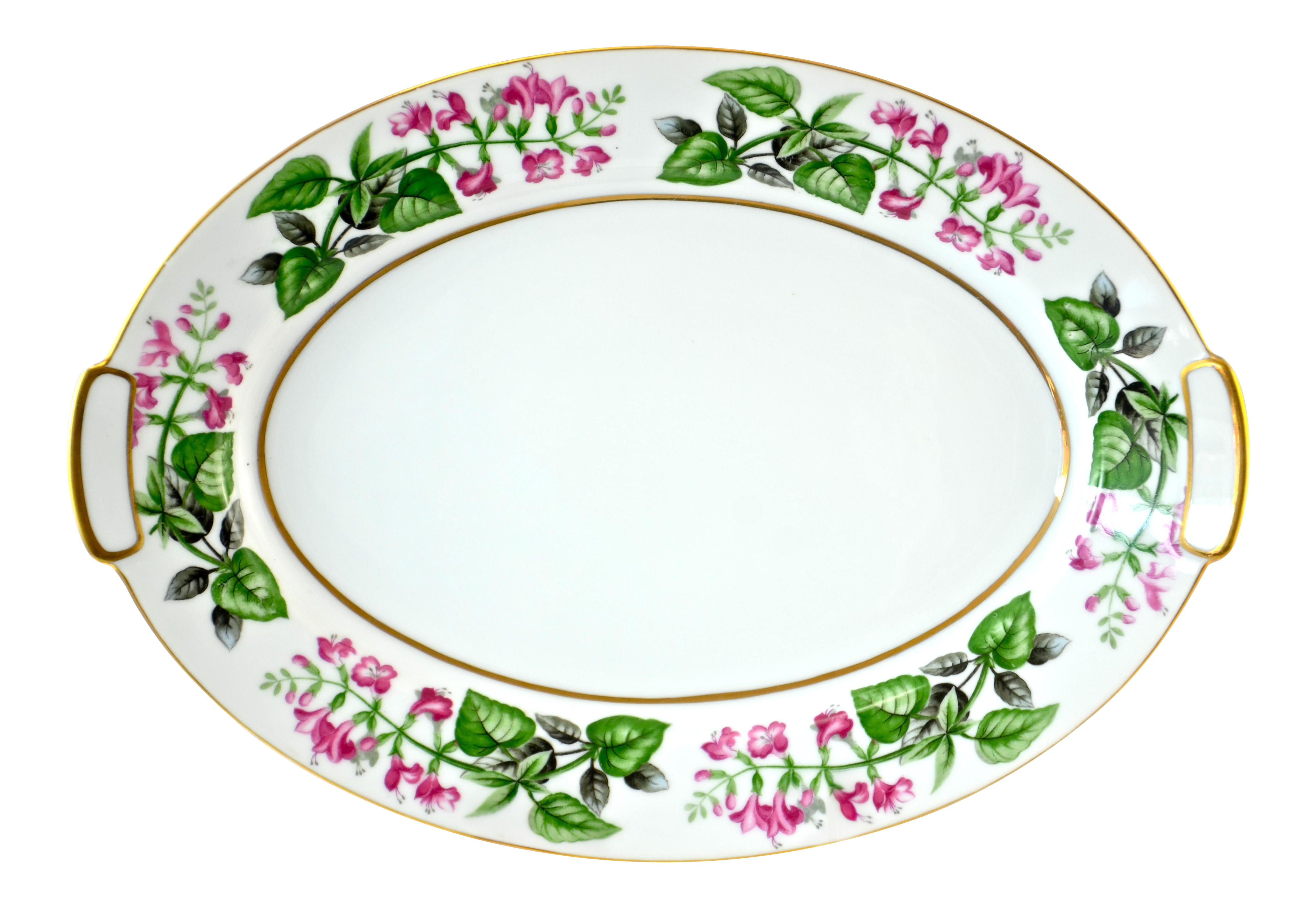1940s Pink Green Floral Tray Chairish Of Pink And Green Bathroom ...