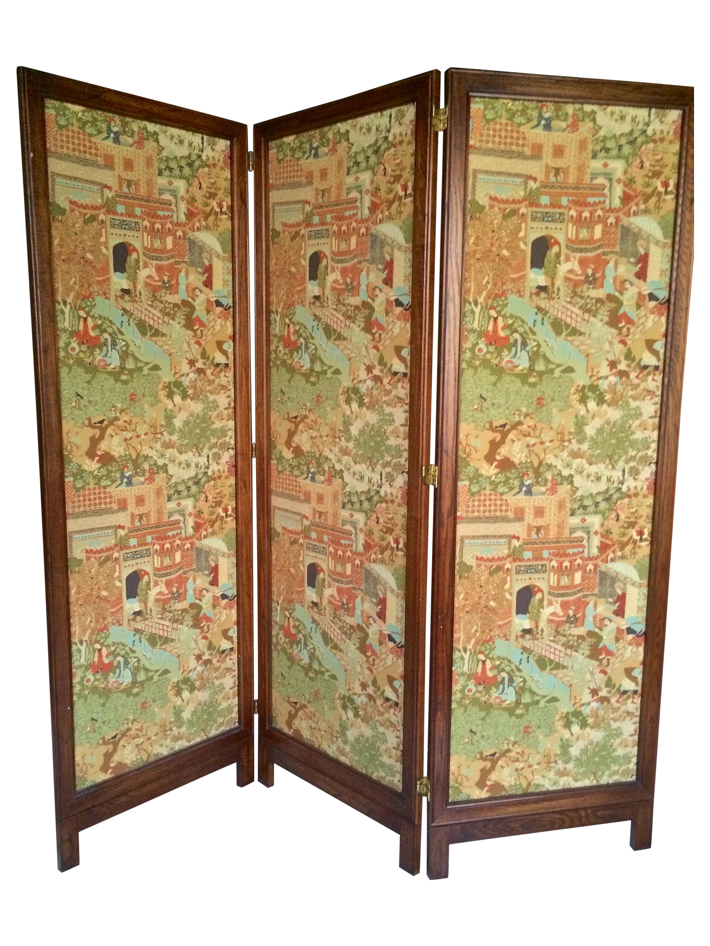 Fabric Covered Room Divider Chairish