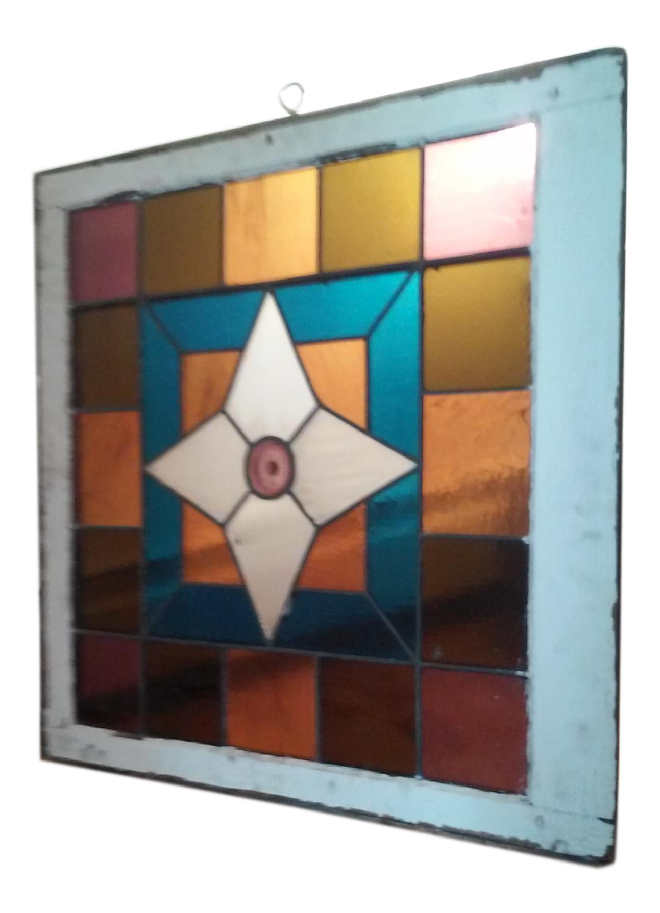 Art Deco Stained Glass Window Panel Chairish