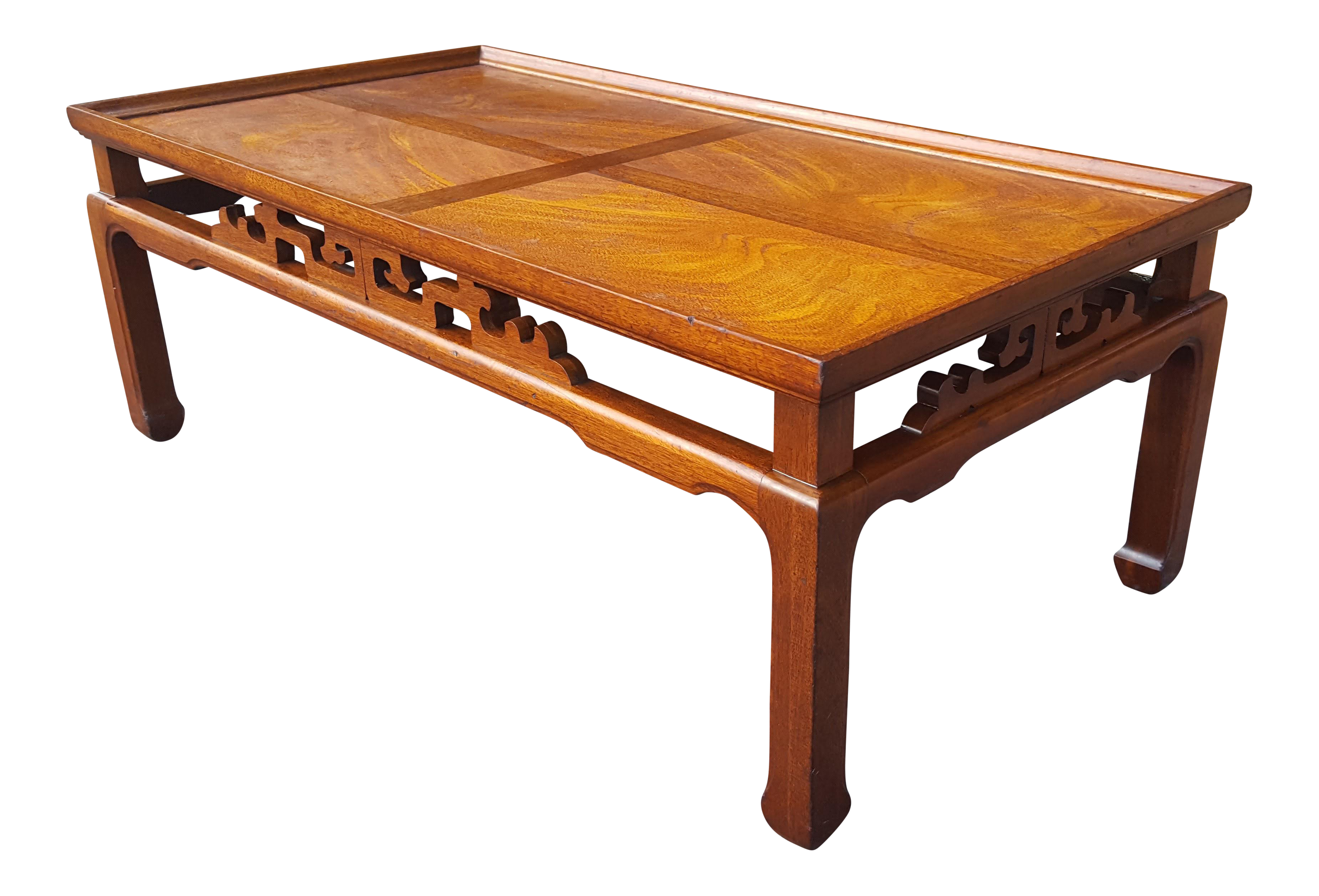 Lane Mid Century Asian Inspired Coffee Table