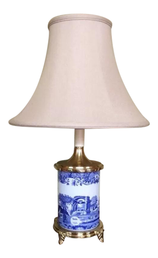 Spode 21 Quot Blue Room Asian Footed Lamp Chairish
