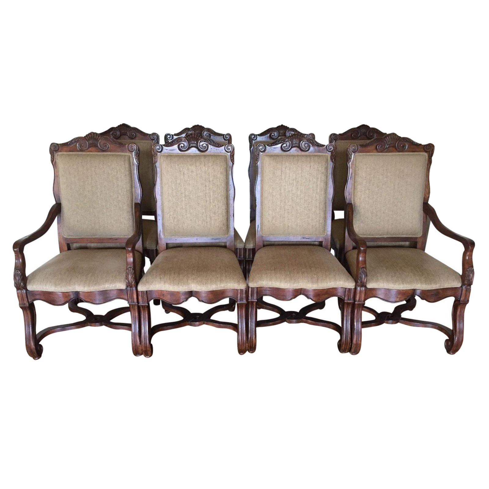 Hekman Loire Valley French Country Dining Chairs Set of 8