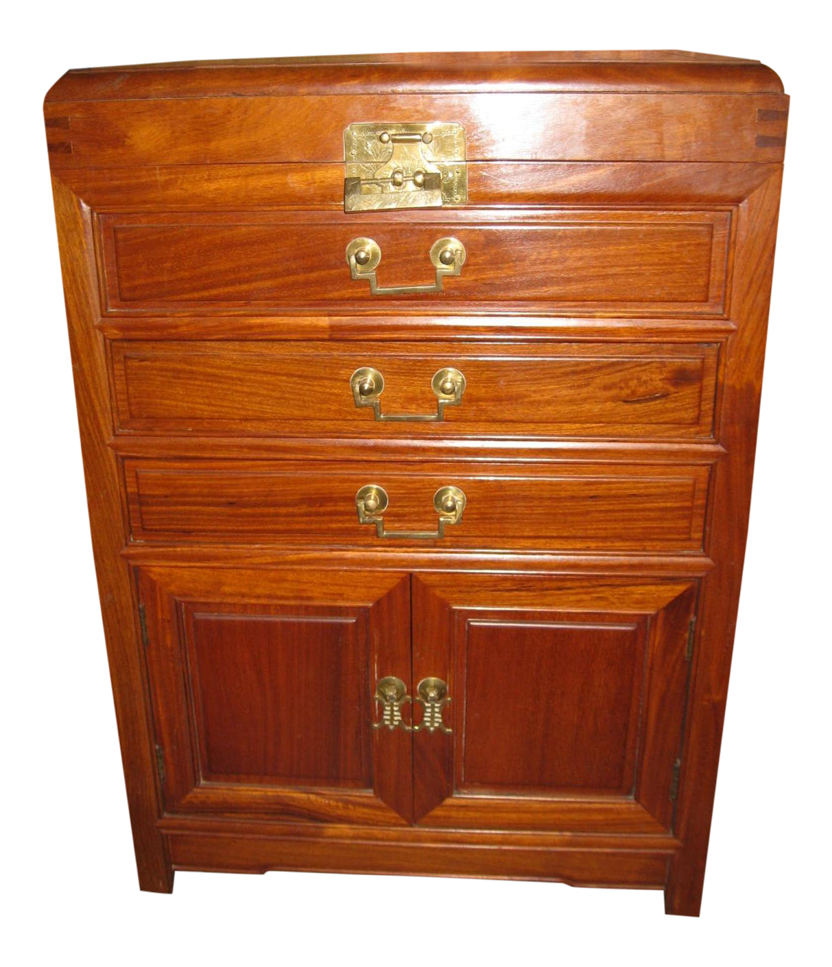 Vintage apothecary cabinet for sale - 1960s Mid Century Modern Rosewood Silverware Chest
