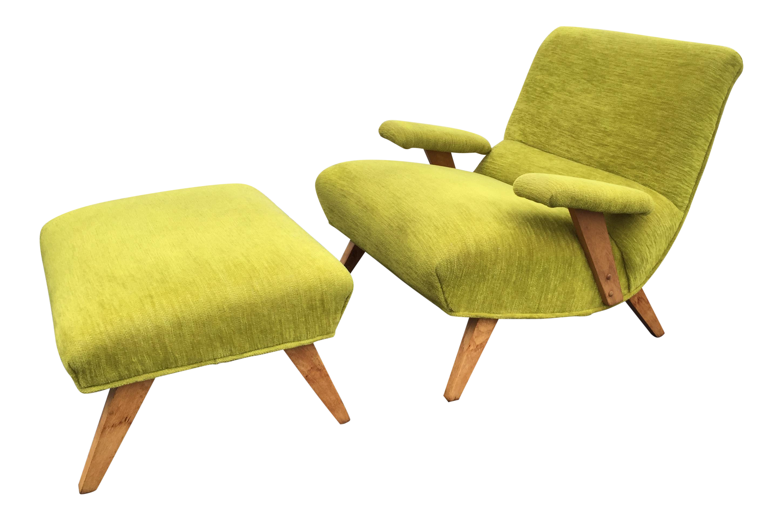 Mid Century Heywood Wakefield Chartreuse Green Lounge