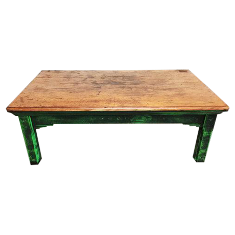 Image Of Vintage Mexican Pine Coffee Table