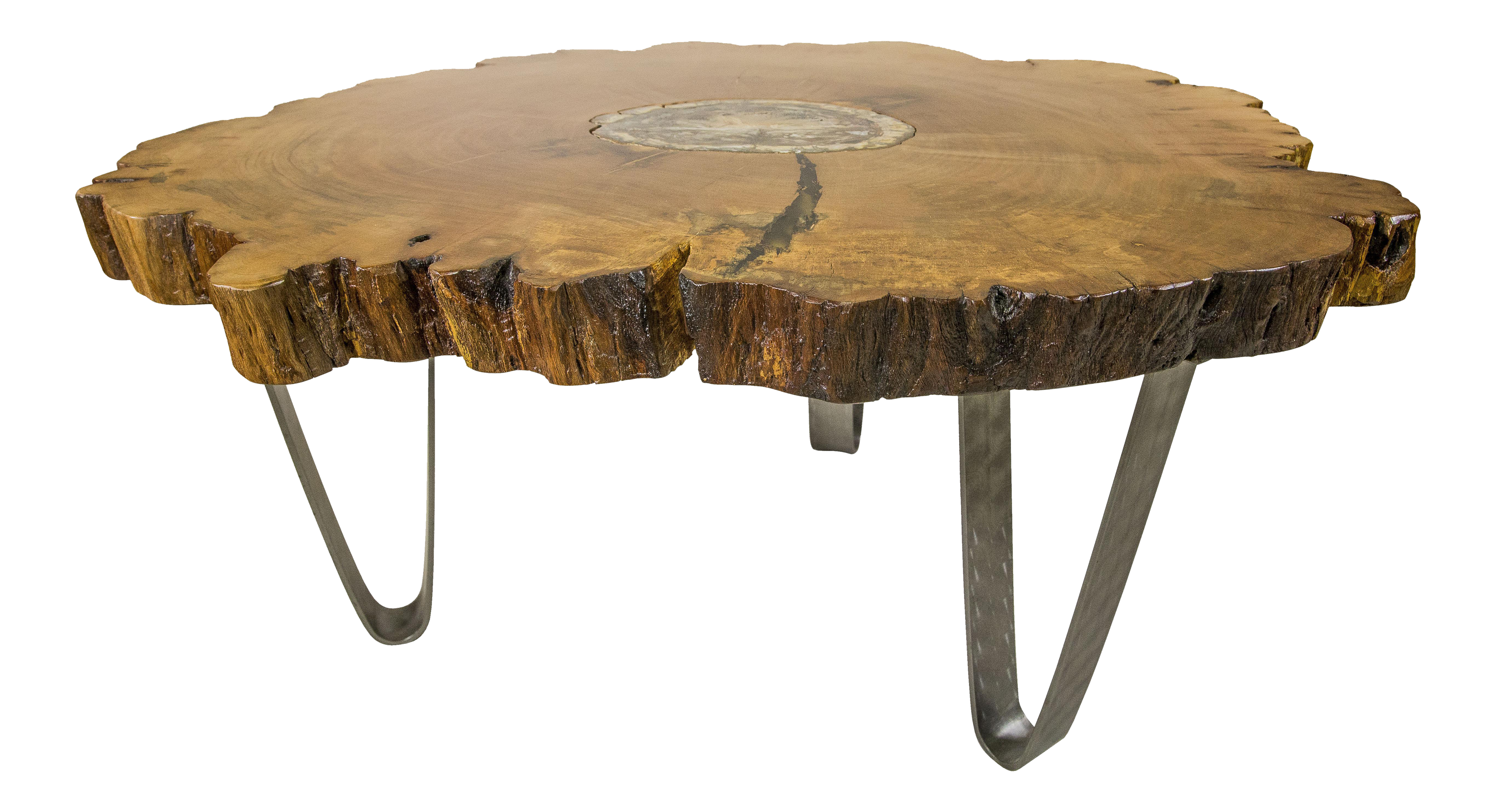Petrified Wood Inlay Sycamore Table