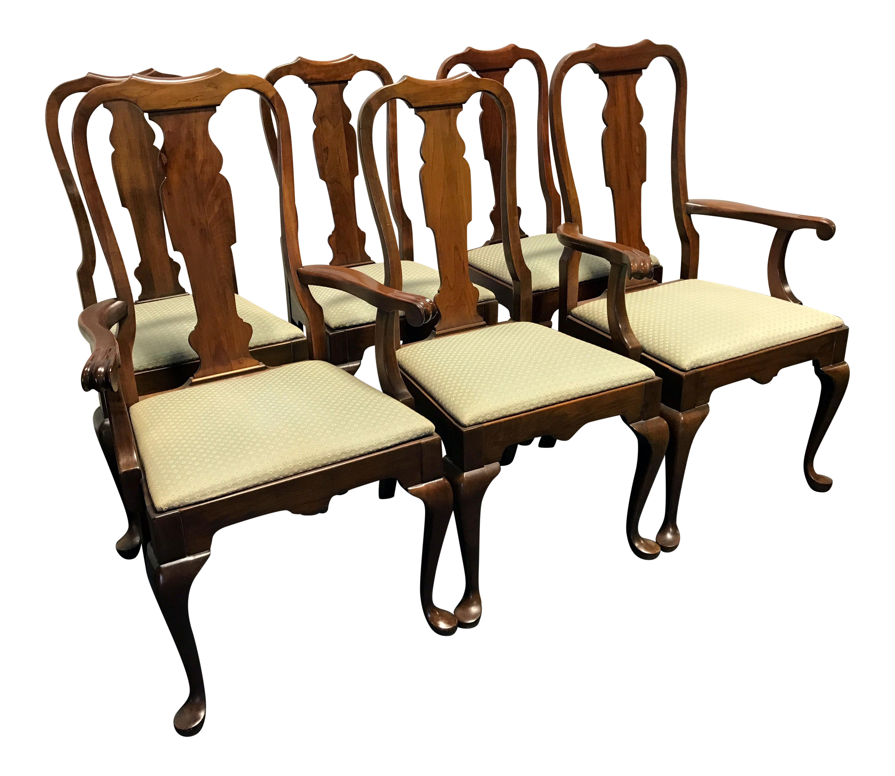 Pennsylvania House Dining Room Table Pennsylvania House Queen Anne Dining Chairs Set Of 6 Chairish