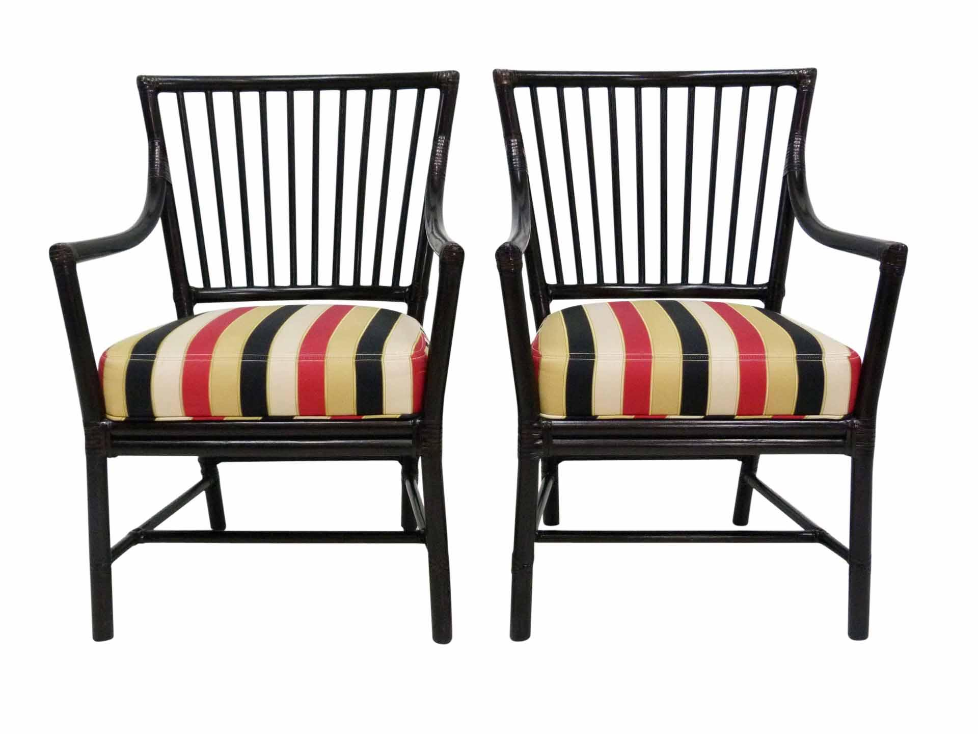 Bamboo arm chairs - Image Of Mcguire Dowel Back Bamboo Arm Chairs A Pair