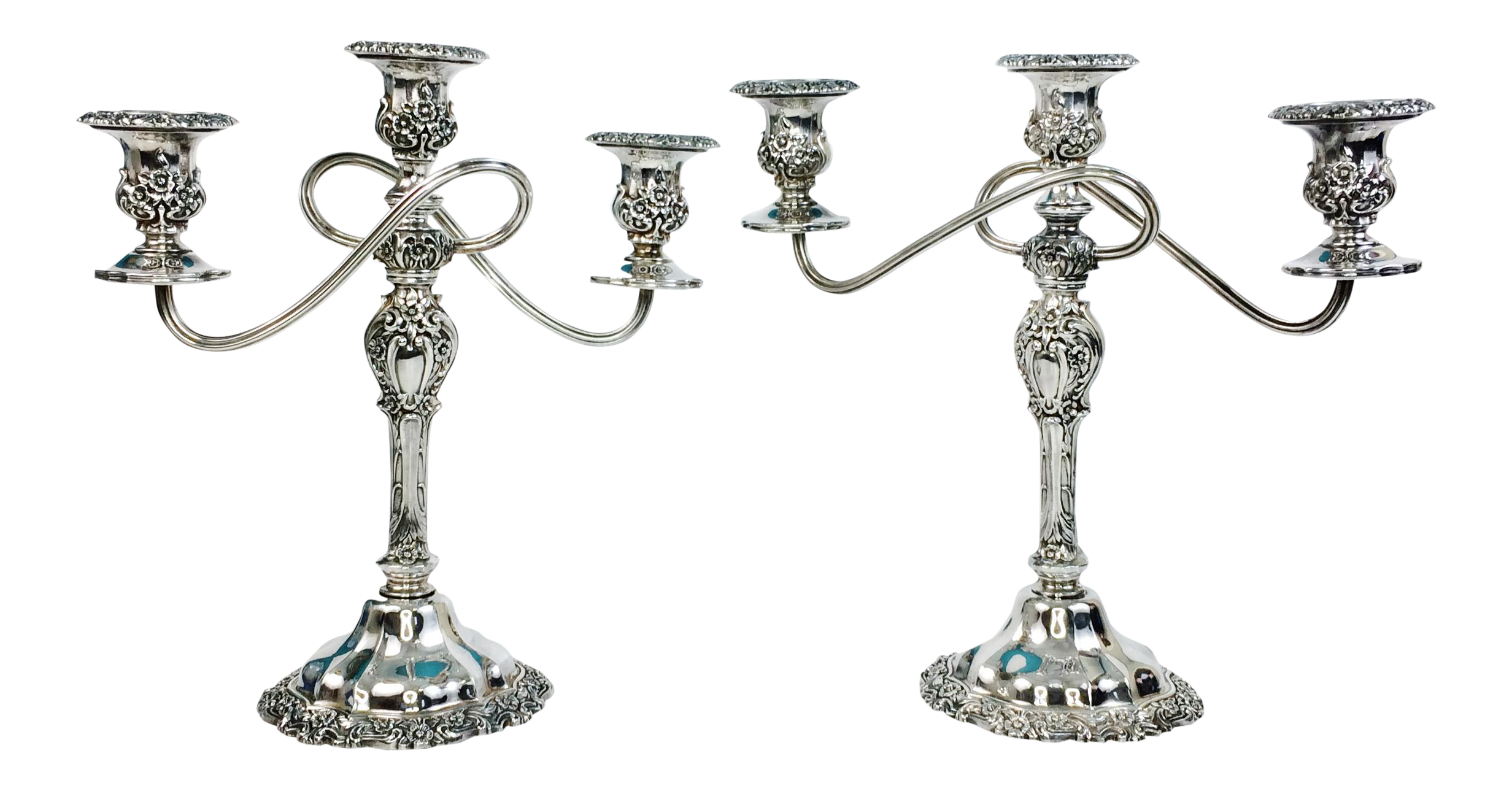 international silver countess silverplate candelabras a pair