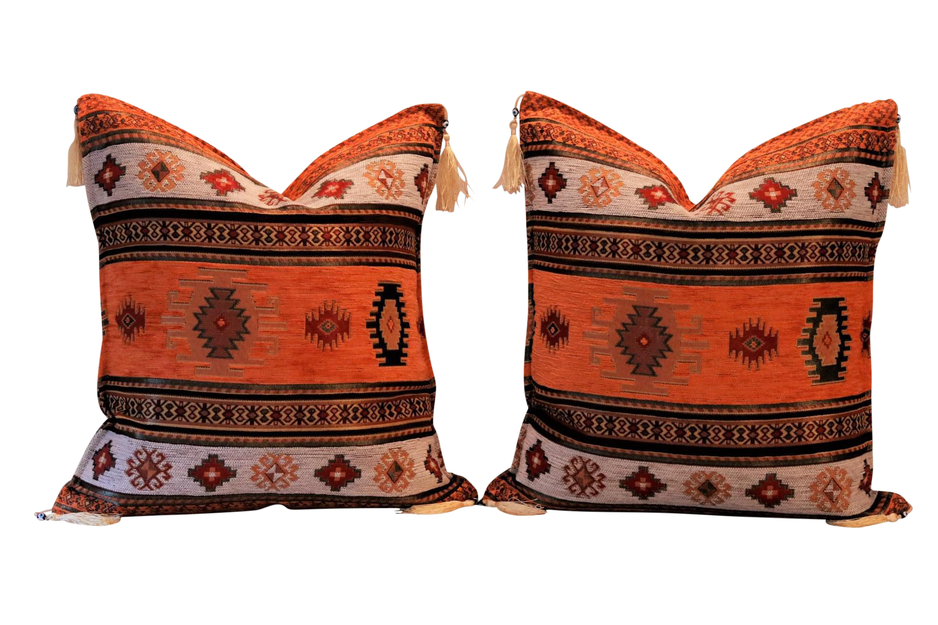 Southwestern Style Pillows : Southwestern Style Down Filled Pillows - a Pair Chairish