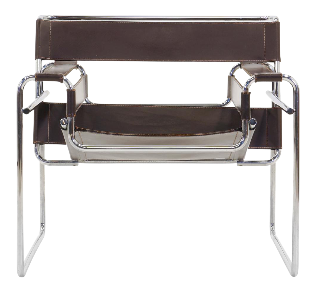 superb early original knoll gavina wassily chair by marcel breuer in brown leather decaso. Black Bedroom Furniture Sets. Home Design Ideas