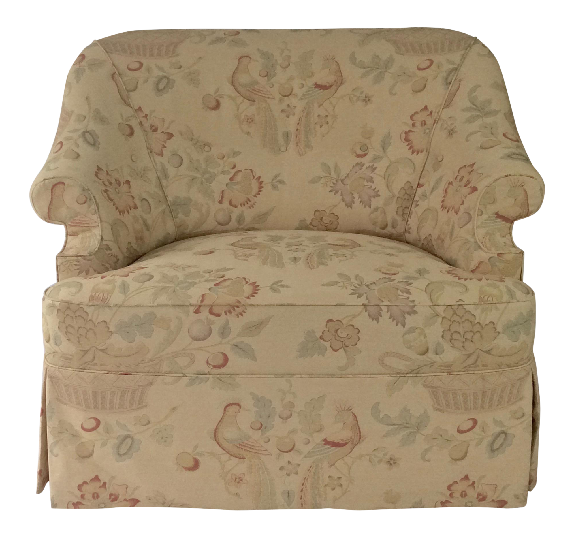 George Smith Style English Reading Chair Custom Upholstered in