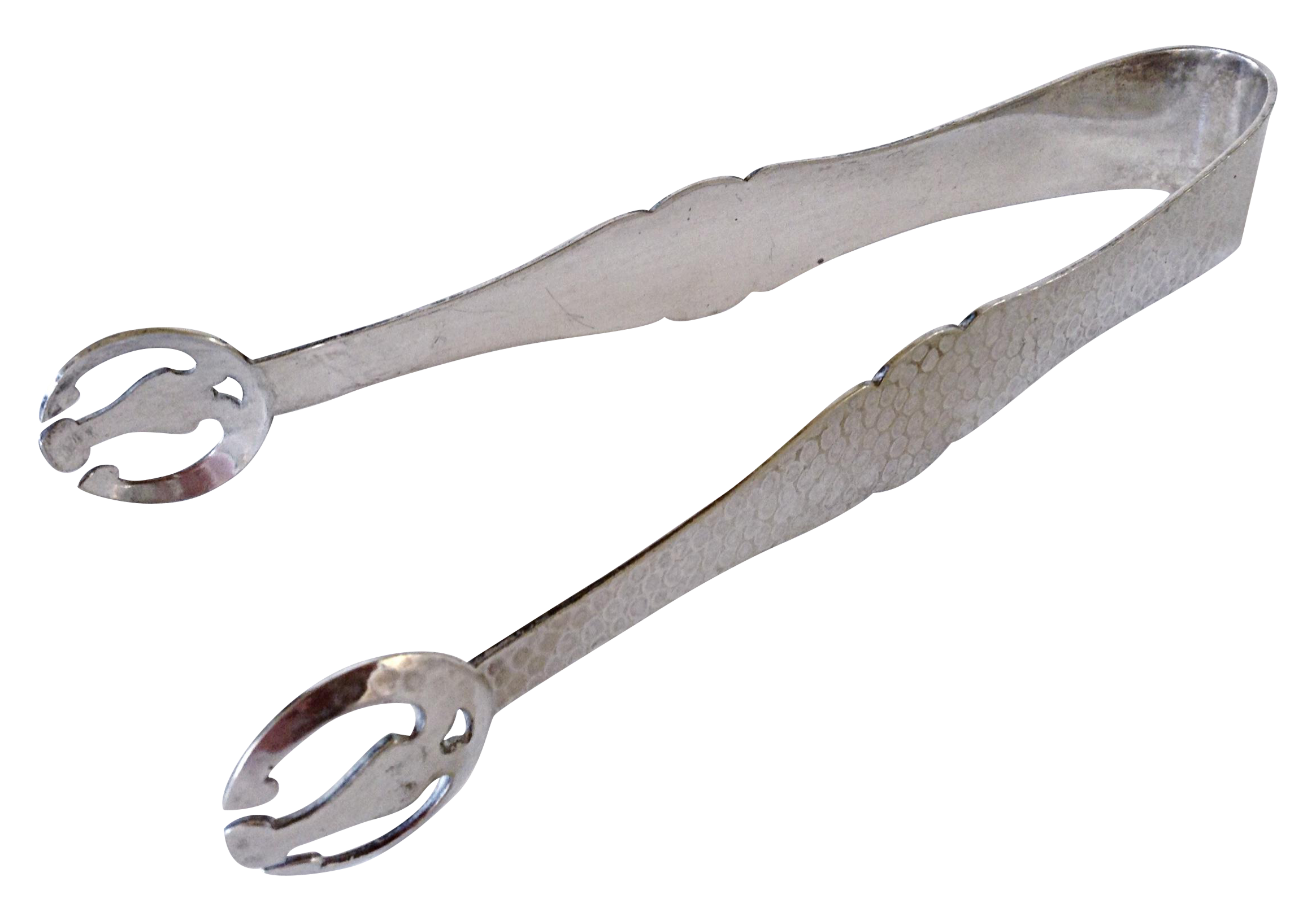 Arts And Crafts Silver Ice Tongs Chairish