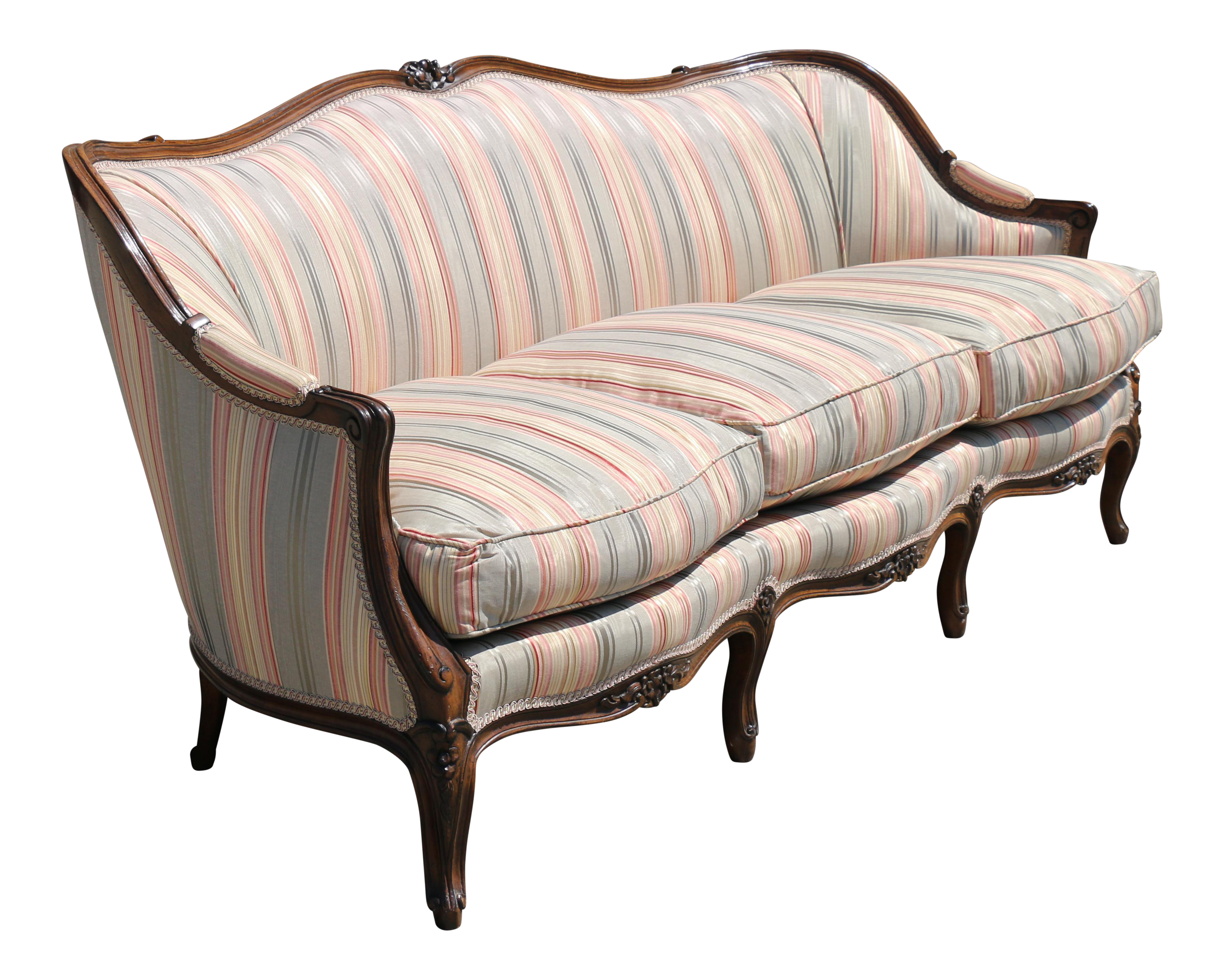 Vintage french country sofa chairish - French country sectional sofas ...