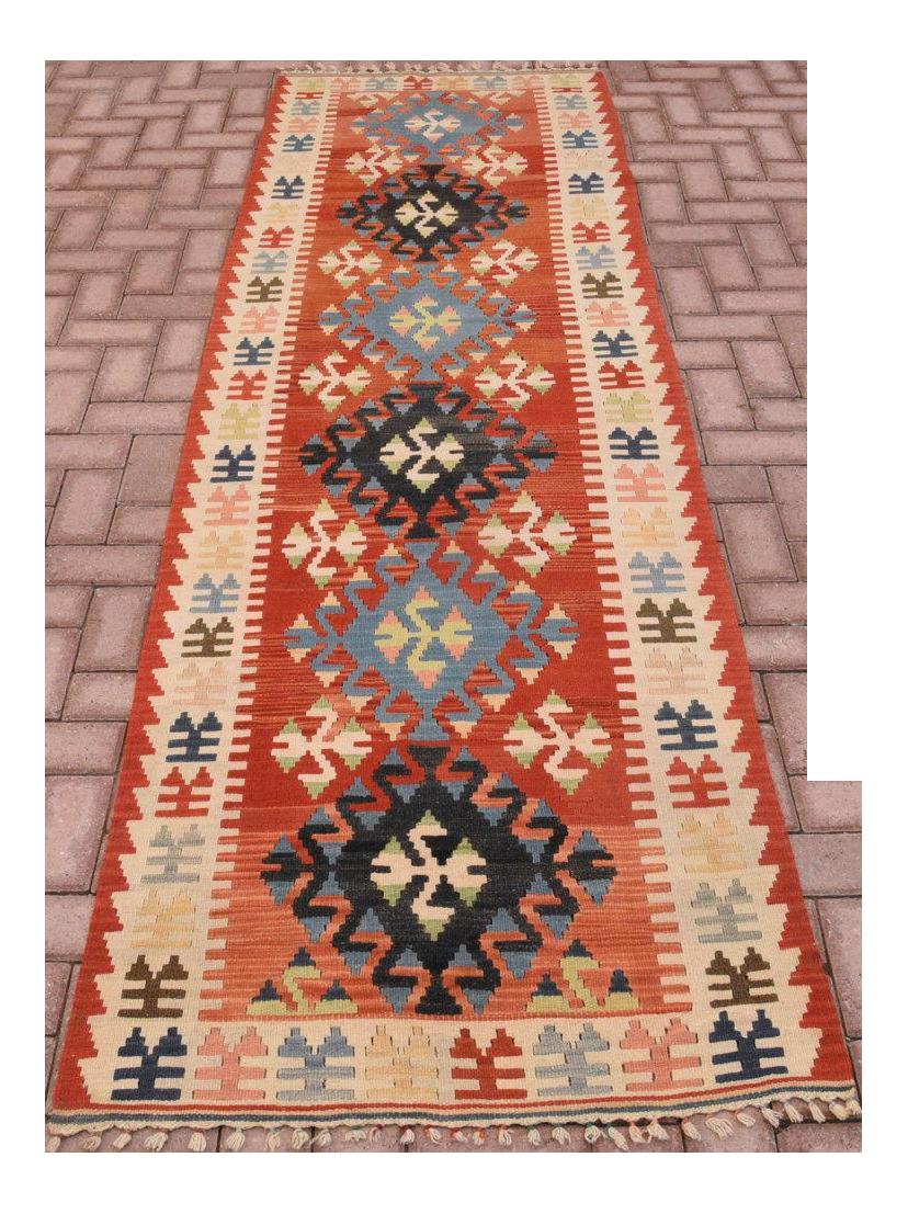 Vintage Handmade Turkish Kilim Runner Rug 2 11 Quot X 10 1