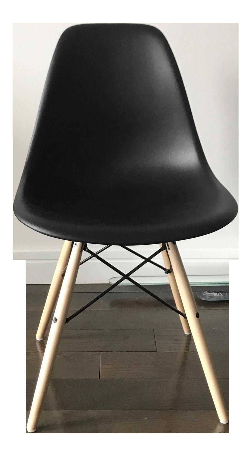 Eames molded plastic dowel leg side chair chairish for Eames dowel leg side chair