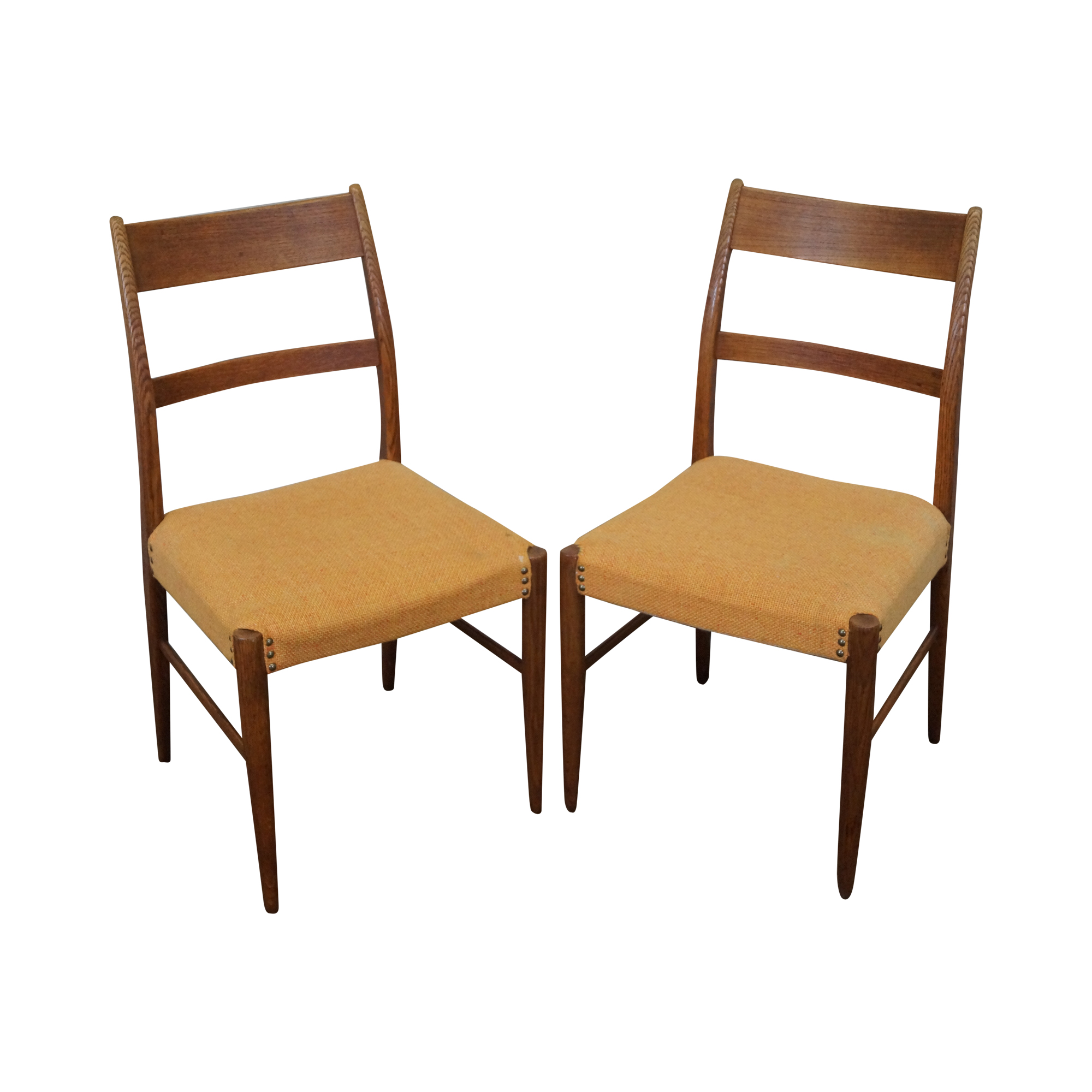 danish modern teak side chairs pair chairish