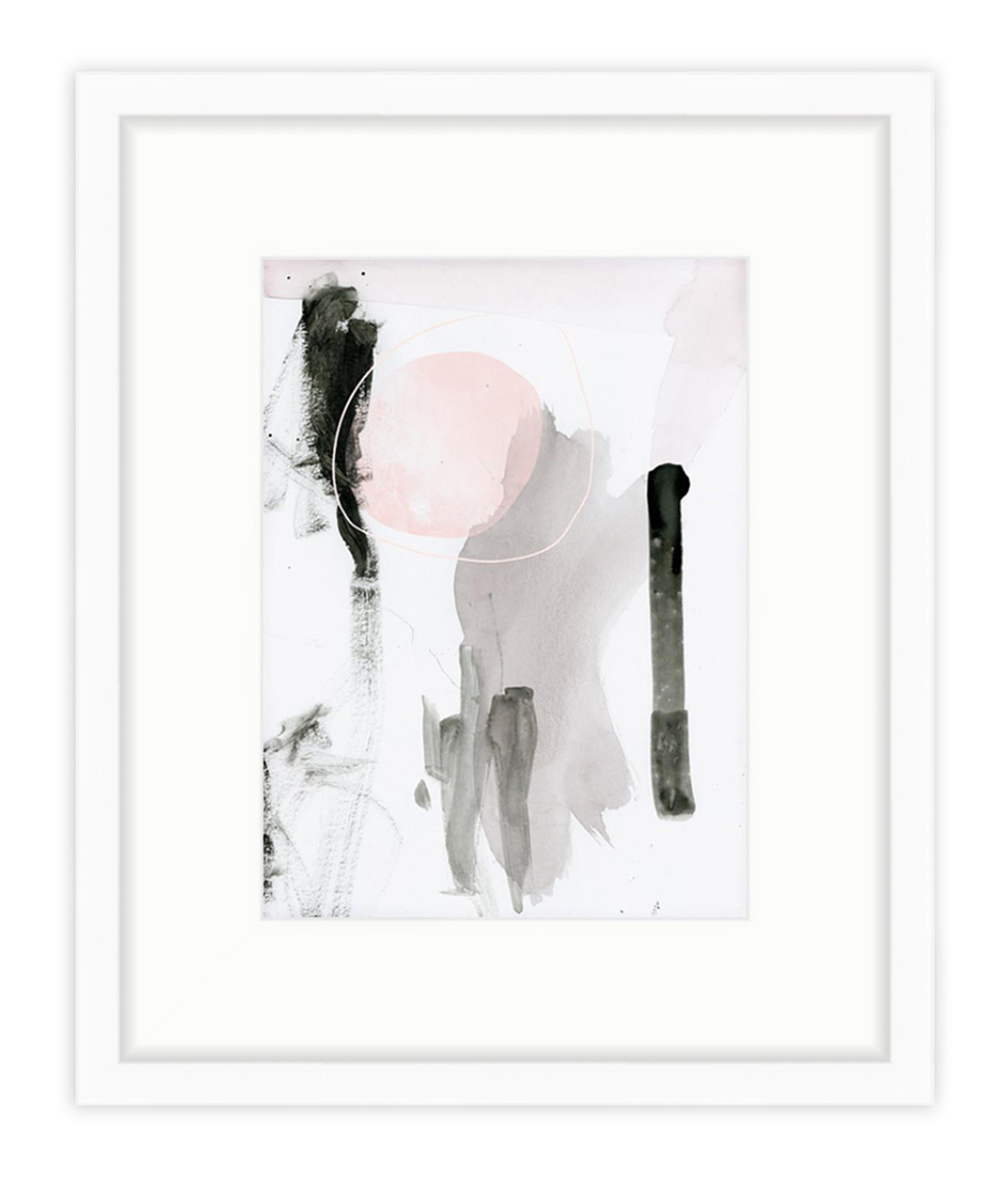 modern abstract art print in white frame mat chairish - White Frame With Mat