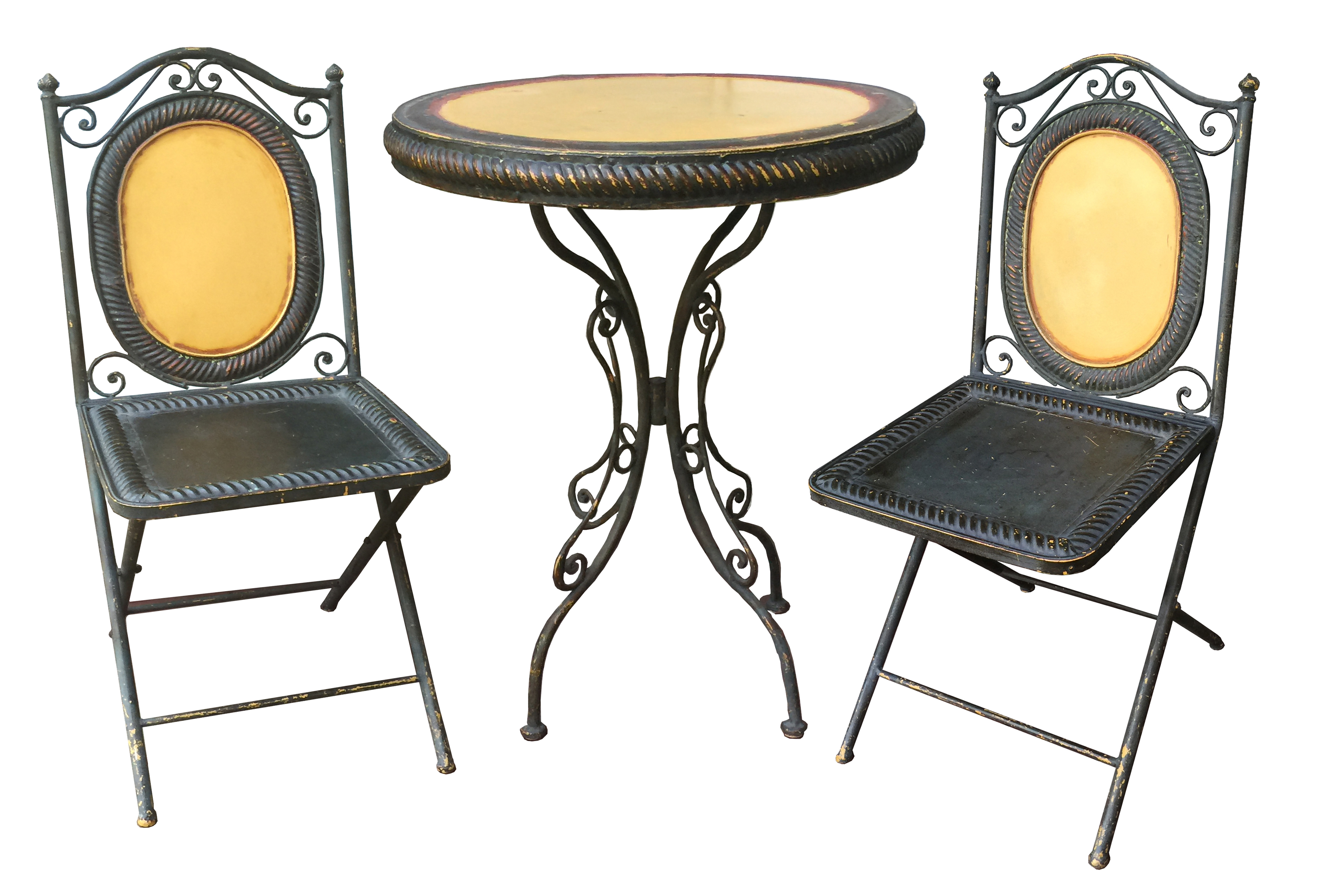 Cafe table and chairs png - Image Of 1920s Parisian Cafe Set