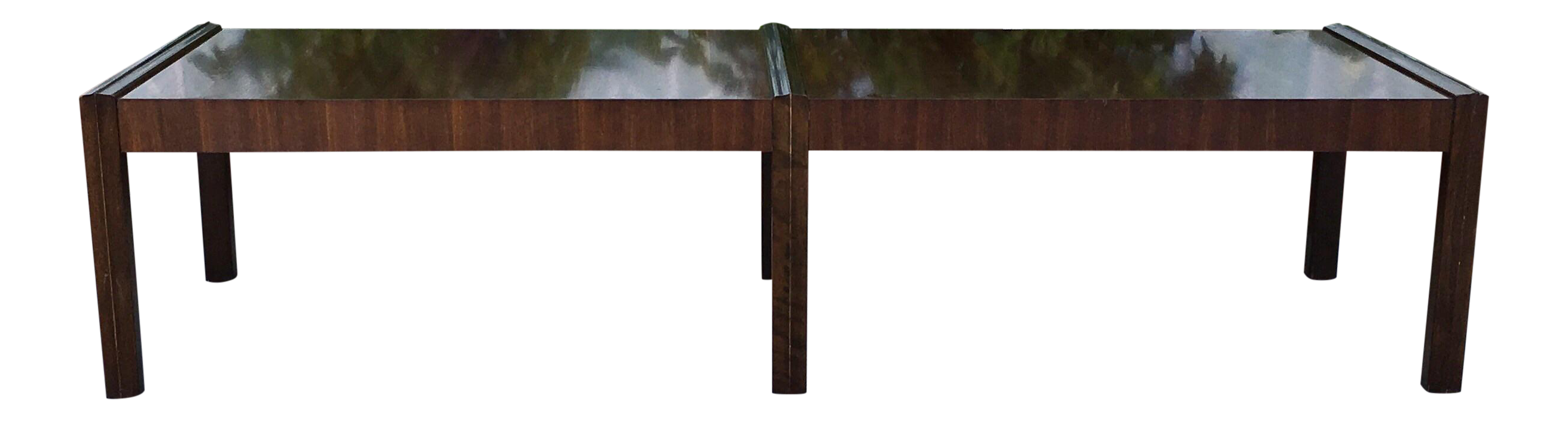 Long Walnut Coffee Table Chairish