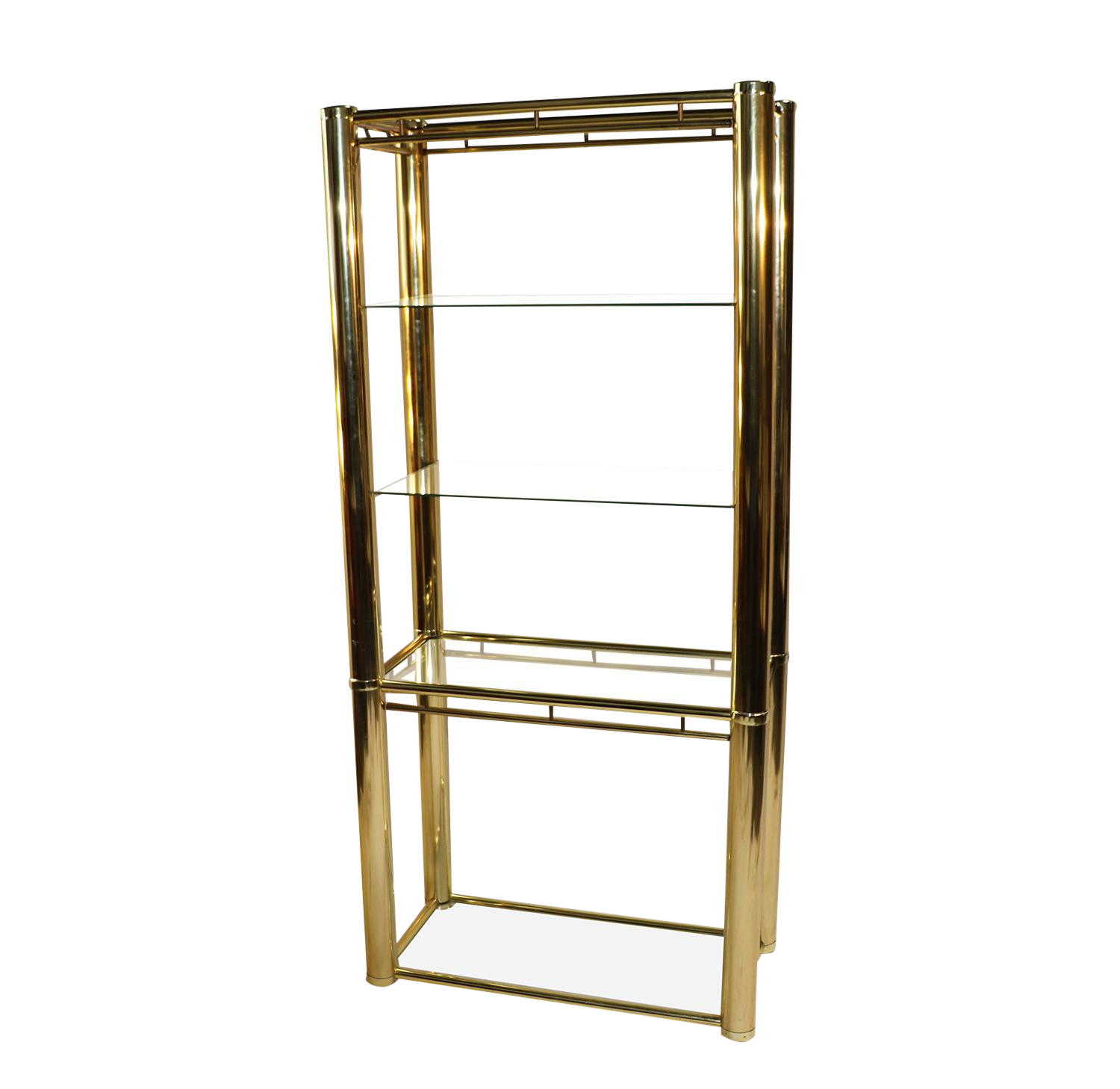 bathroom vanities with mirrors mid century milo baughman style brass glass etagere chairish 16955