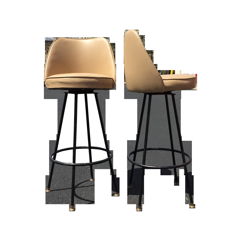 Danish mid century bar stools 1960s set of 3