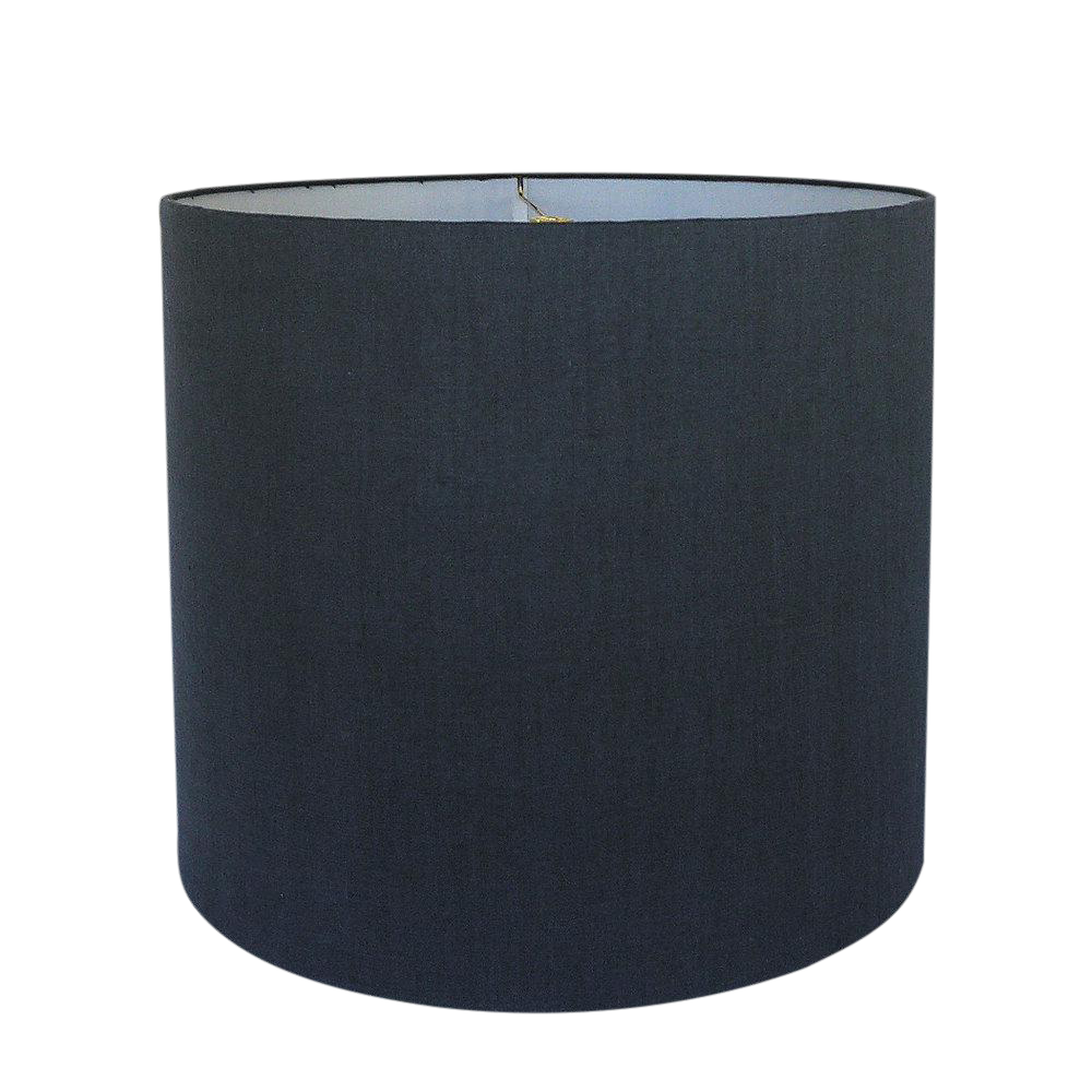 Navy Linen Drum Lamp Shade Chairish
