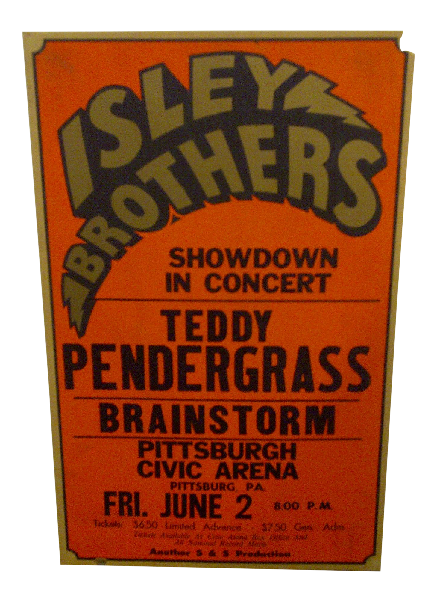Vintage Isley Brothers Concert Poster Chairish