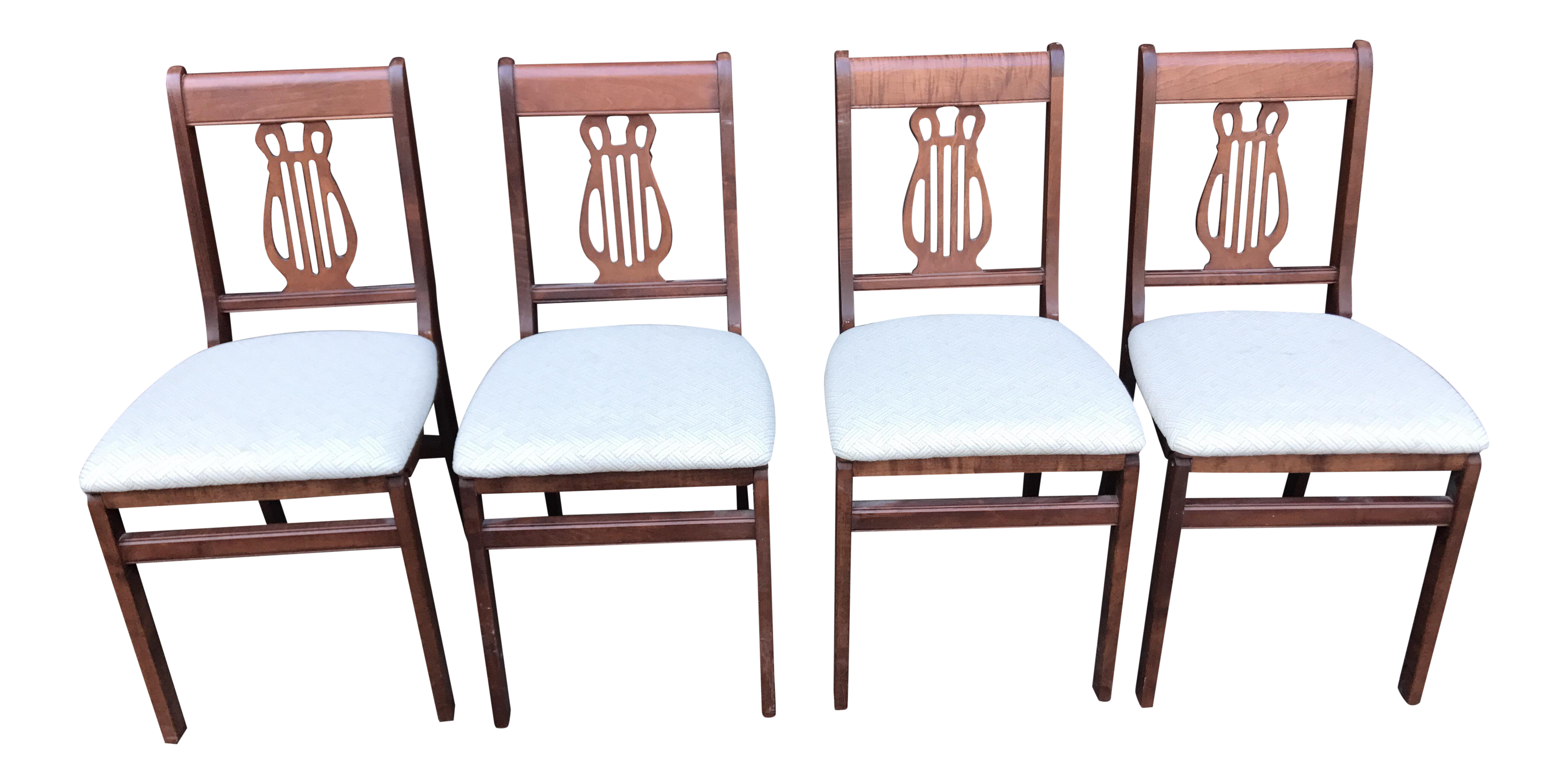 Vintage Stakmore Harp Back Chairs Set of 4