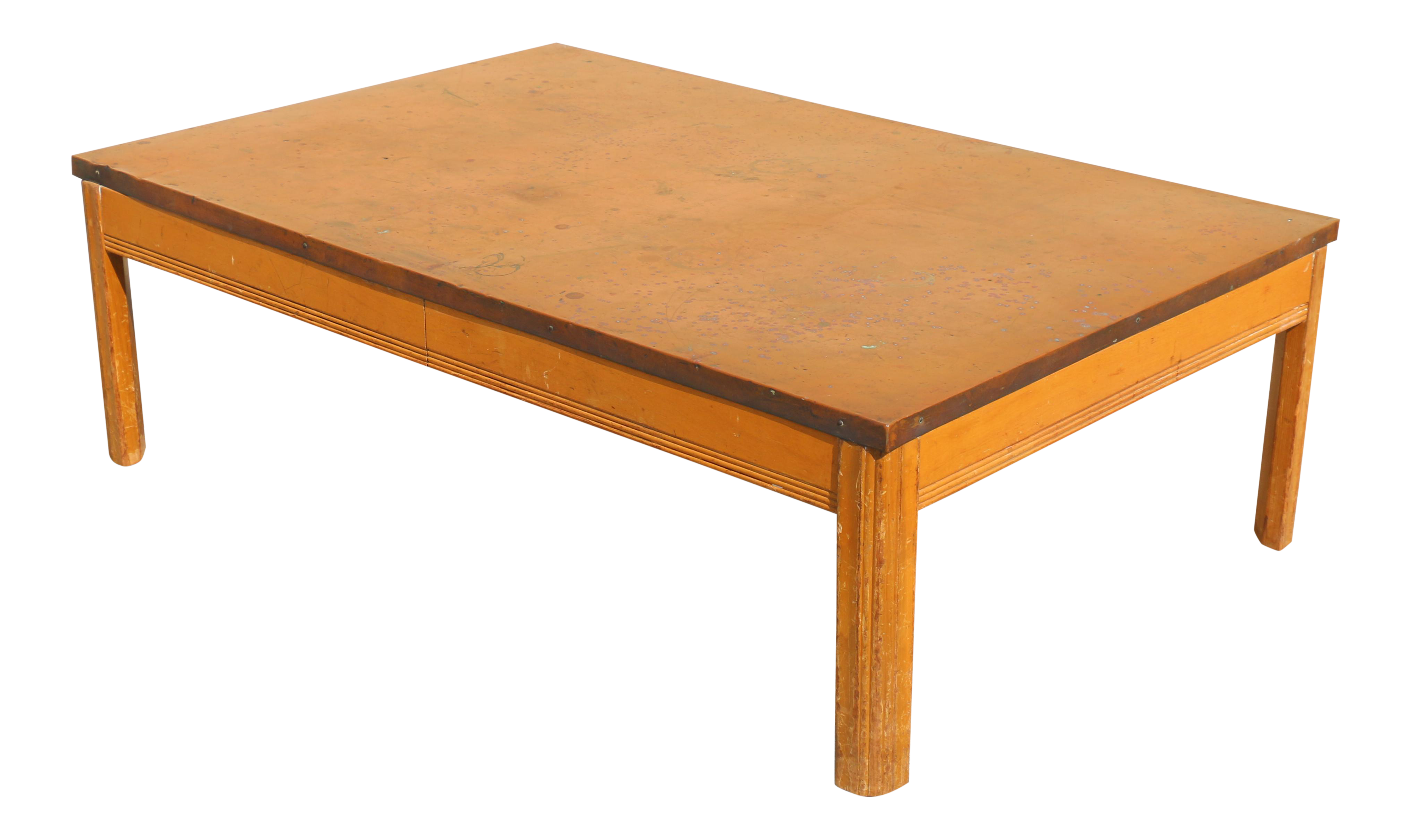 Copper Top Coffee Table Chairish