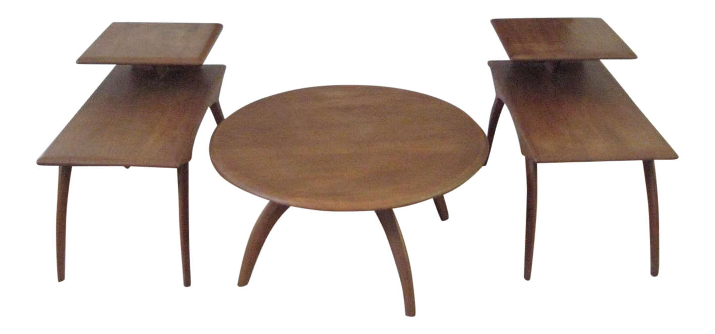 Heywood wakefield mid century coffee table end tables set of 3 heywood wakefield mid century coffee table end tables set of 3 chairish geotapseo Image collections