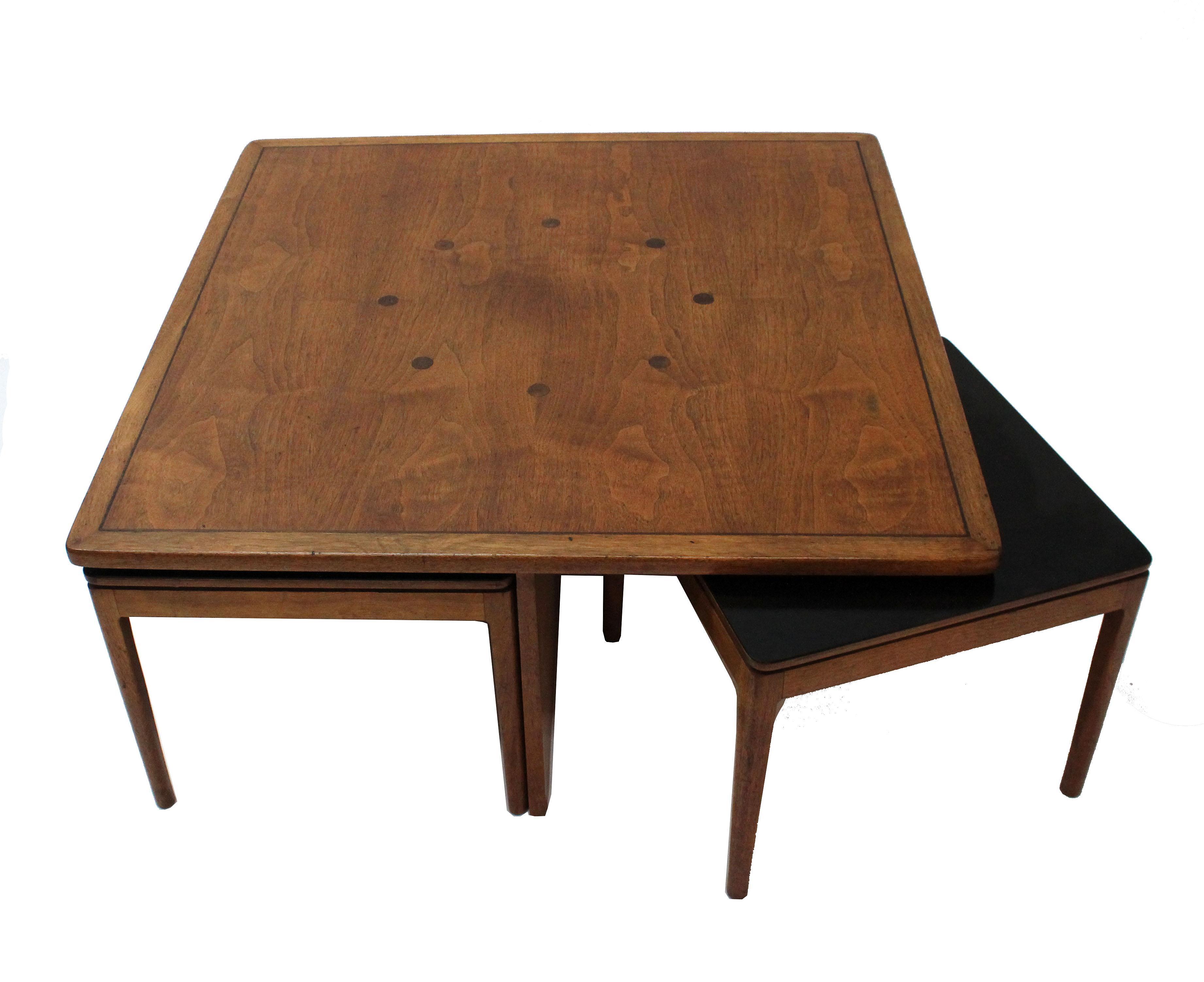 Kipp Stewart Drexel Declaration Coffee Table Cocktail Table 4 Ottomans Chairish