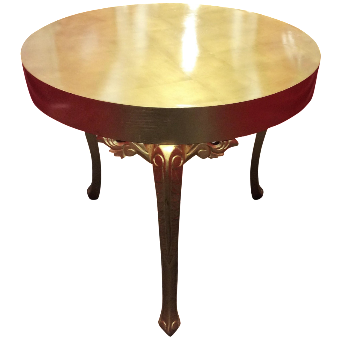 gold round entry table chairish entry table round allocine