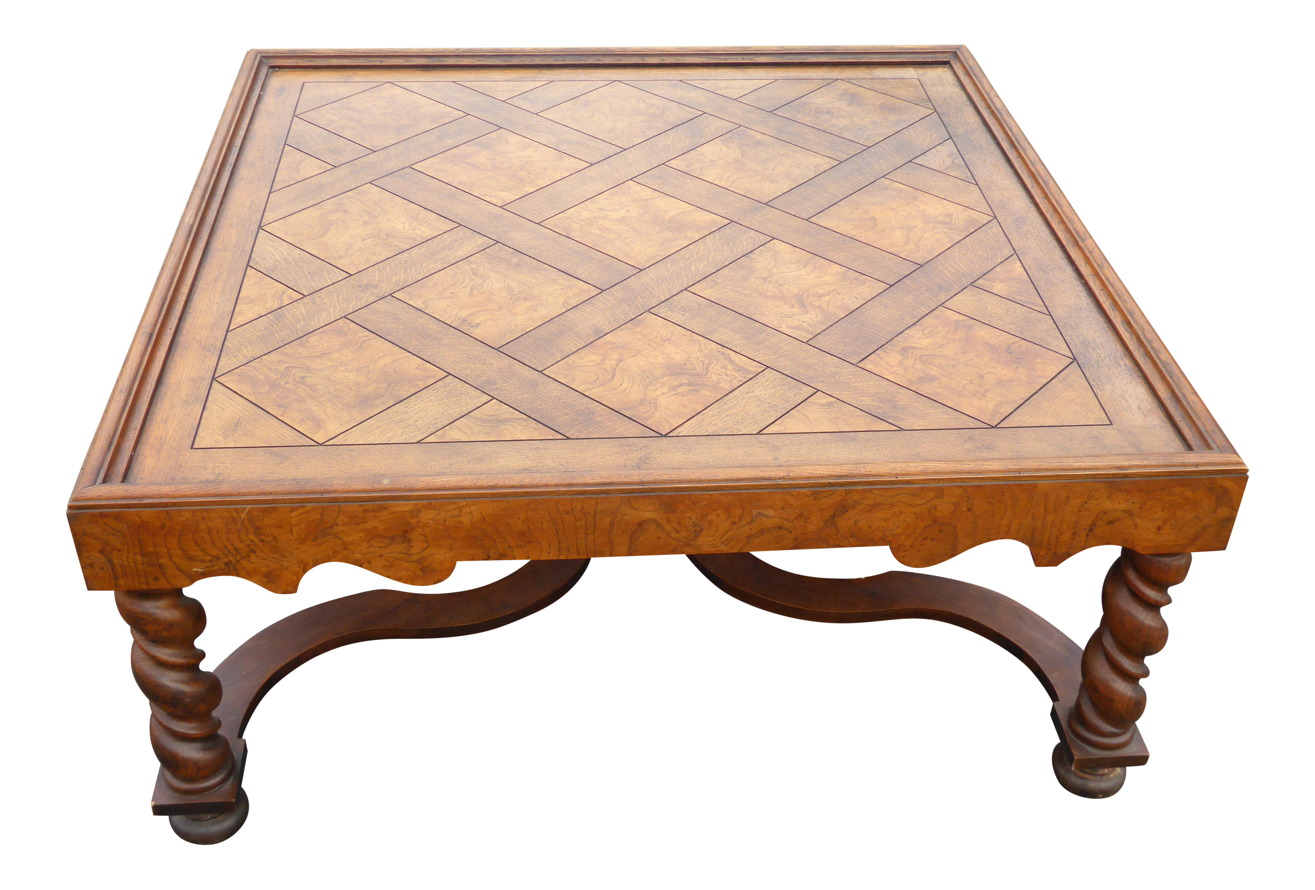 Wonderful Image Of Vintage French Country Barley Twist Coffee Table By Baker Furniture
