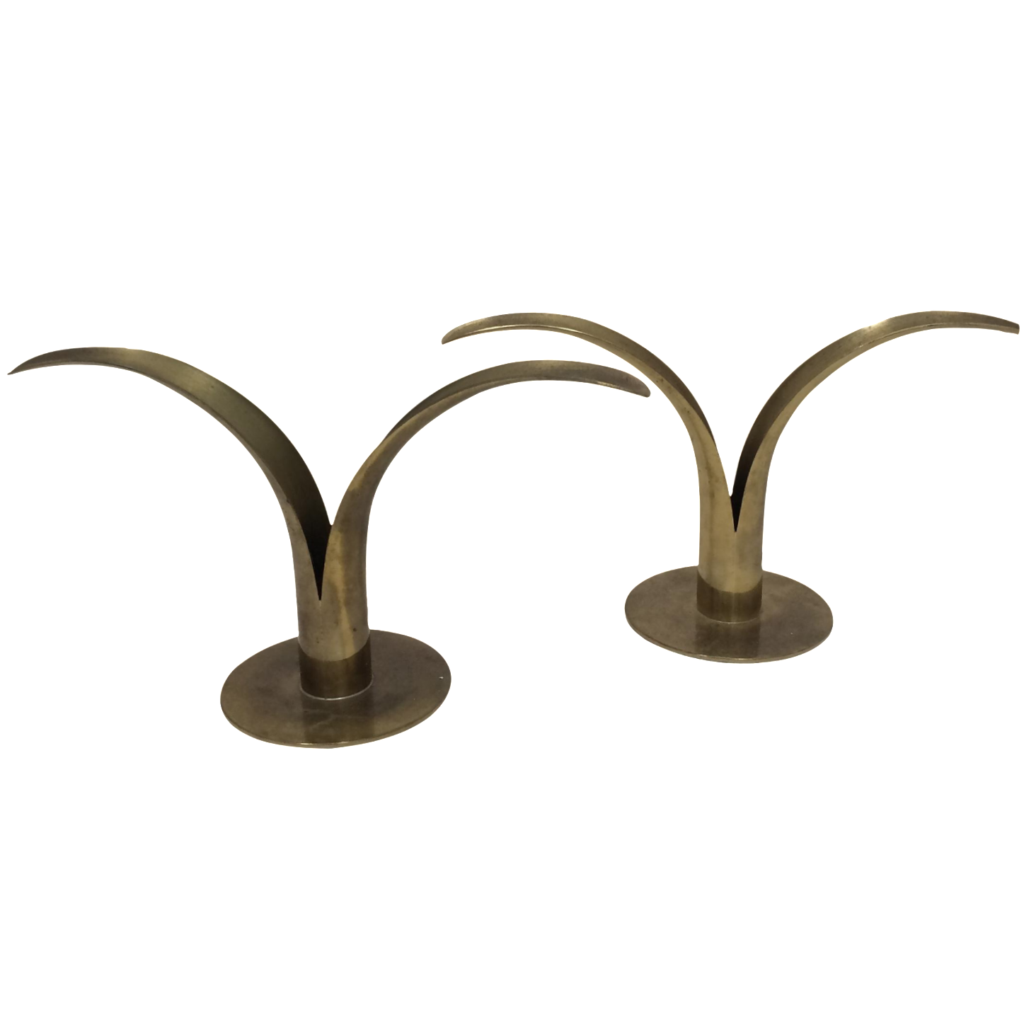 Brass Sweden Lily Candle Holders A Pair Chairish